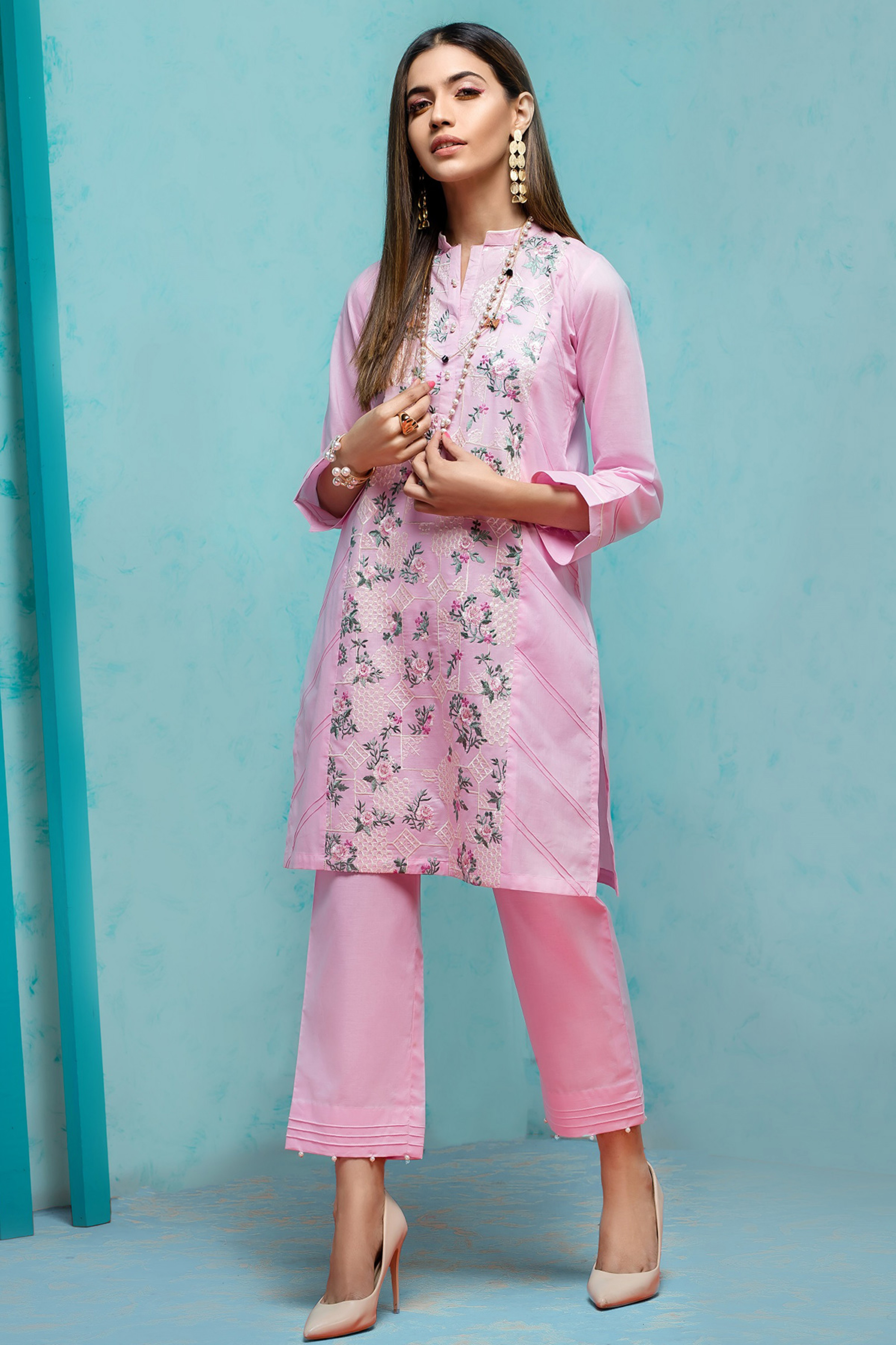 Pink Passion (Embroidered Shirt & Trouser)