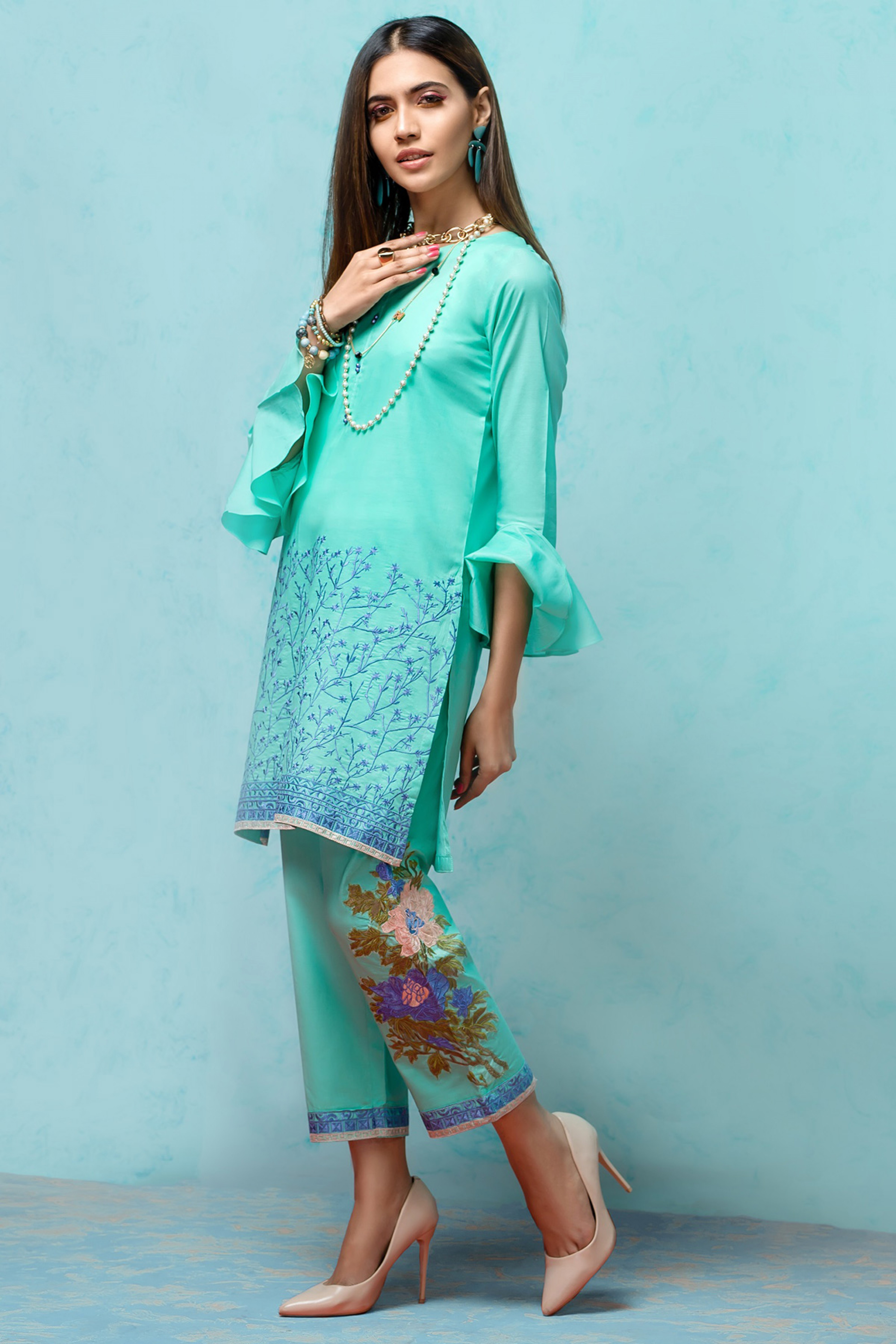 Blossom Dreams (Embroidered Shirt & Trouser)