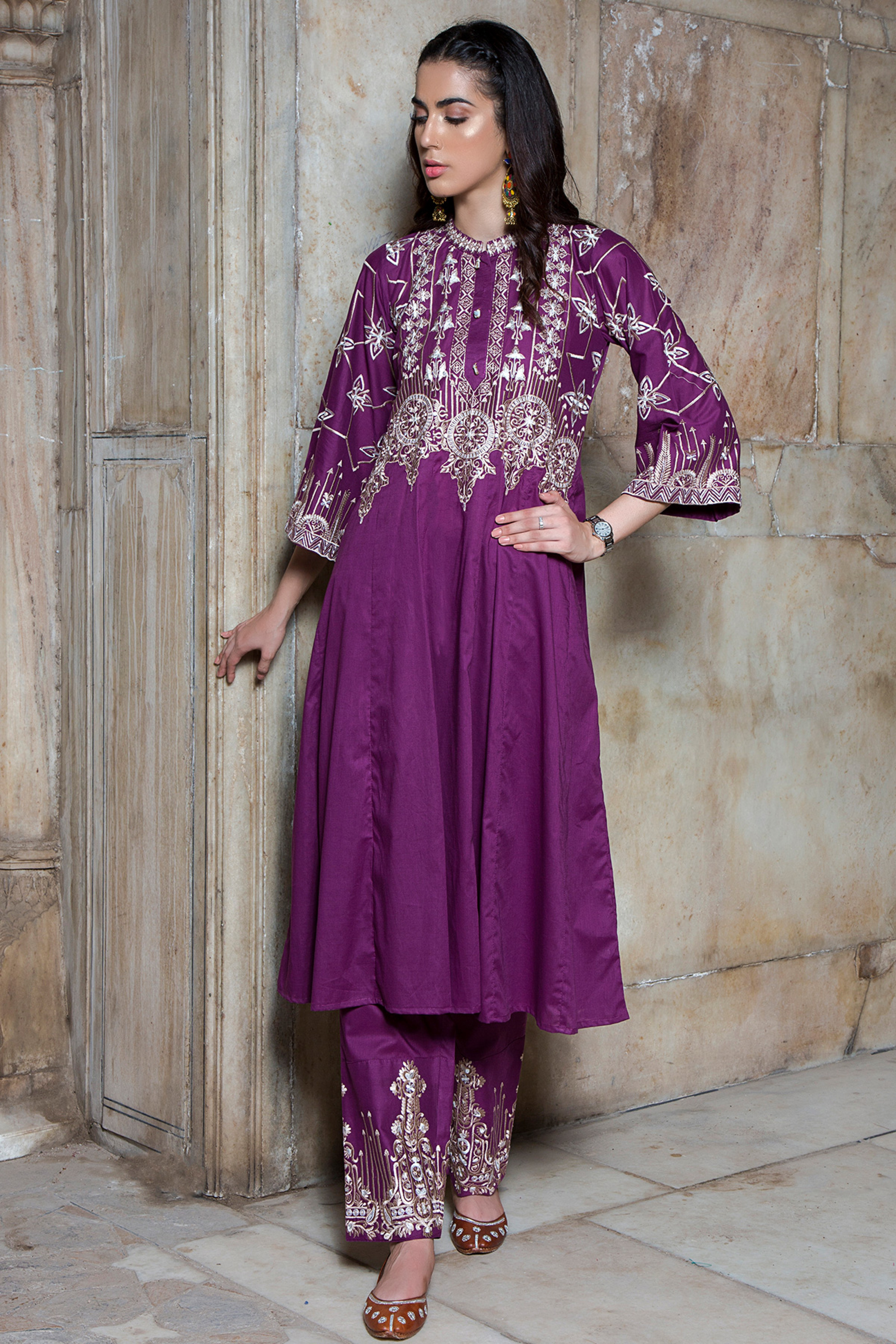 Embroidered Shirt & Trouser