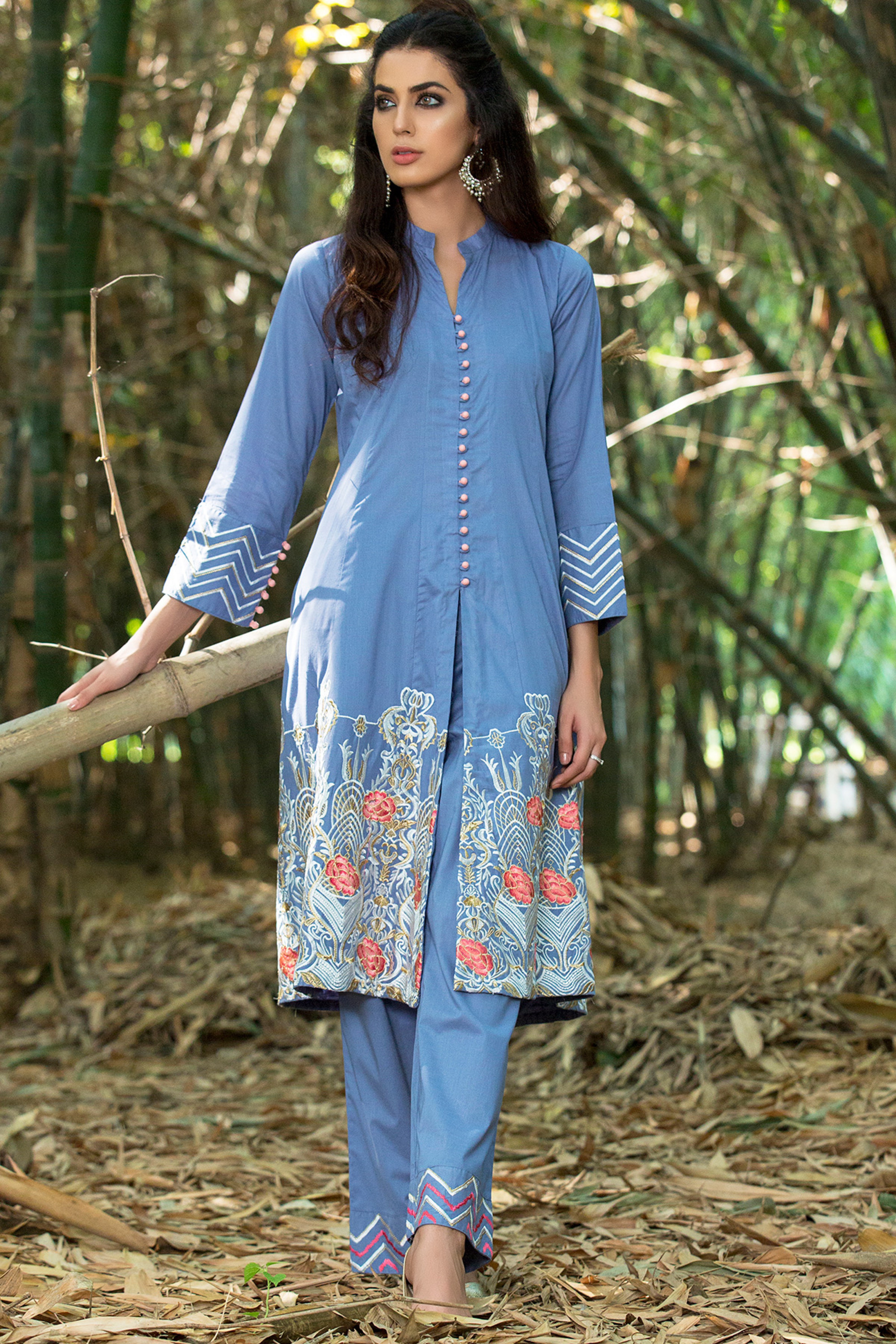Embroidered Cambric Shirt & Trouser