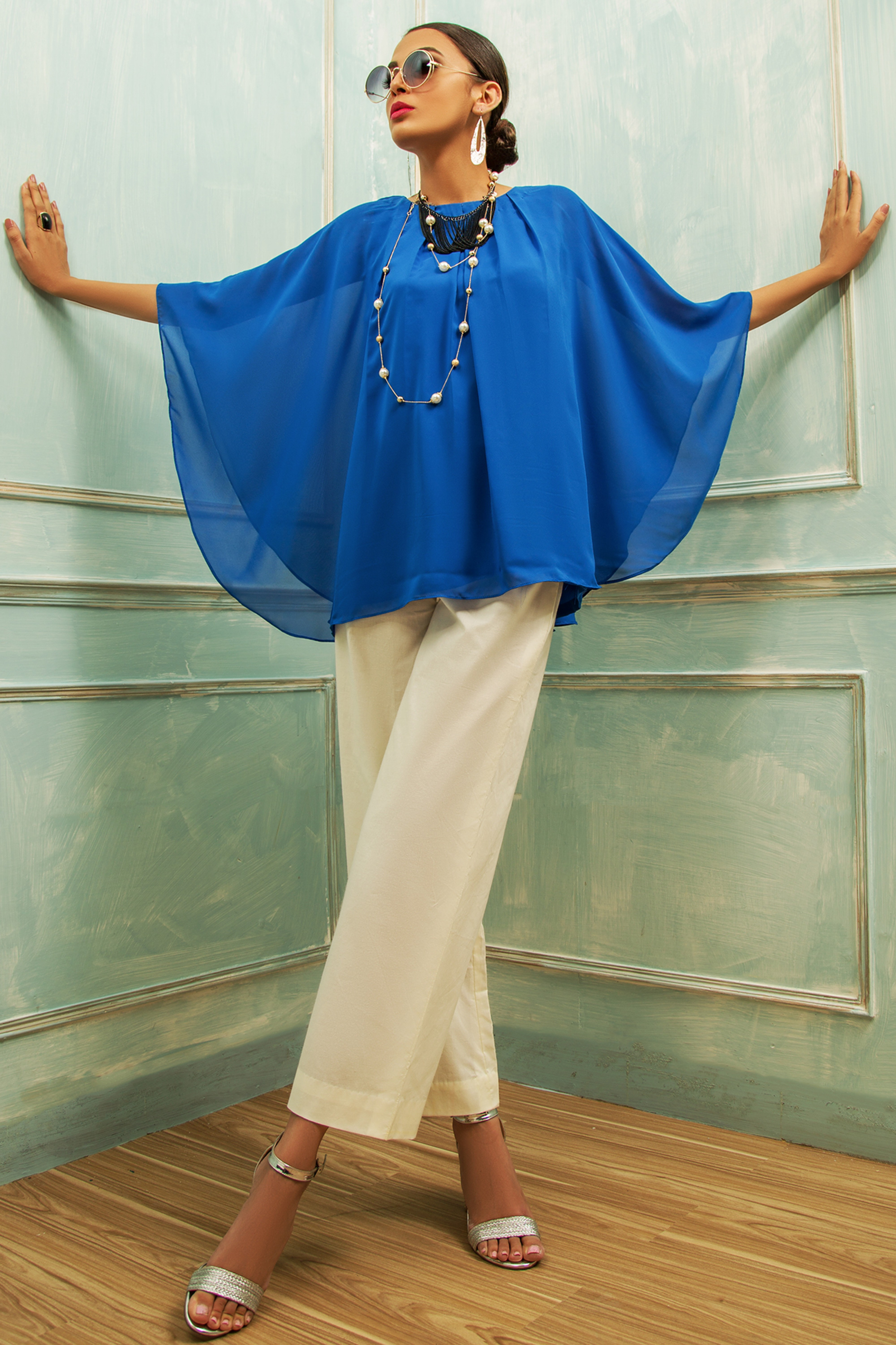 CHIFFON TOP WITH BOTTOM
