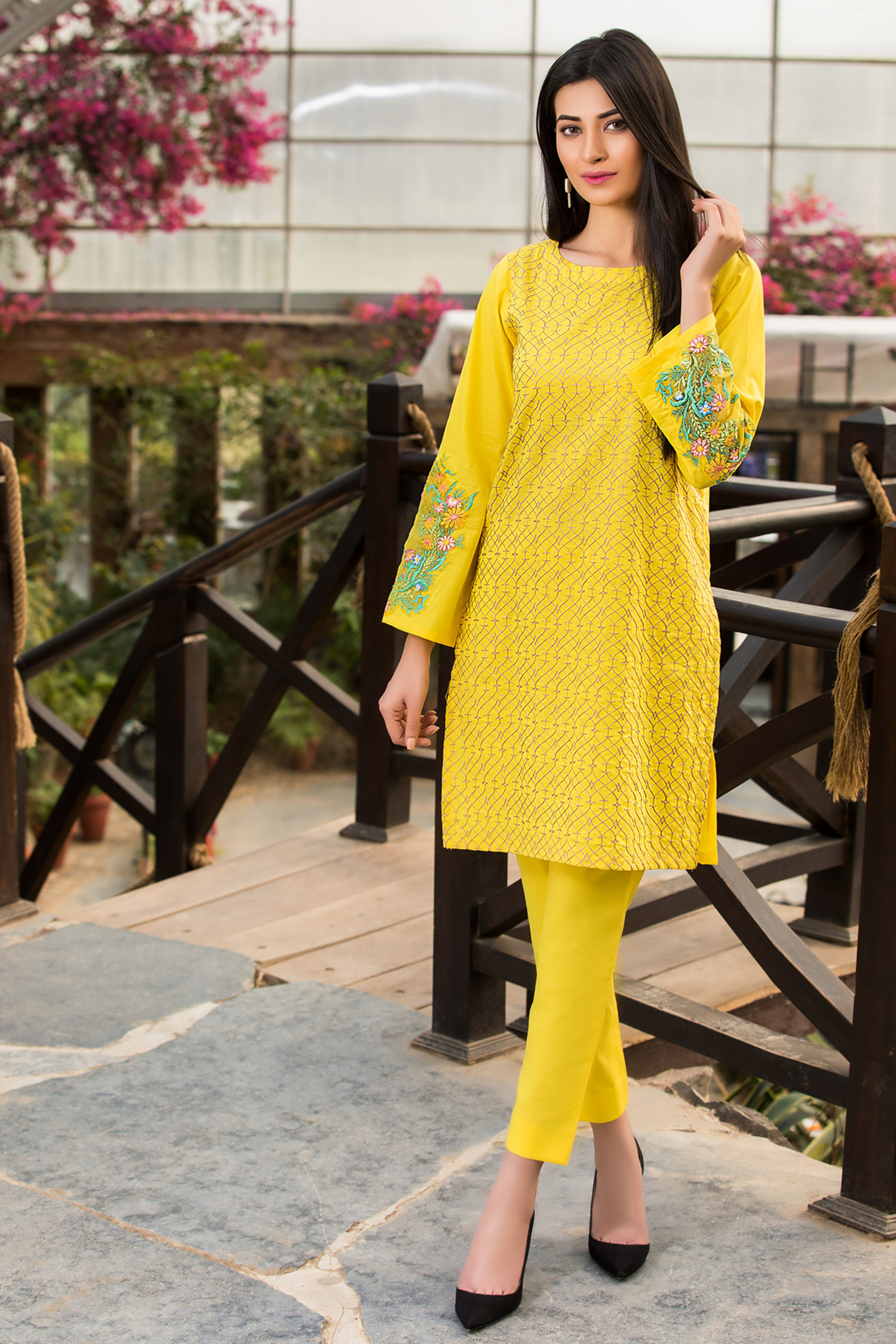 SUNSHINE ( EMBROIDERED SHIRT & TROUSER )