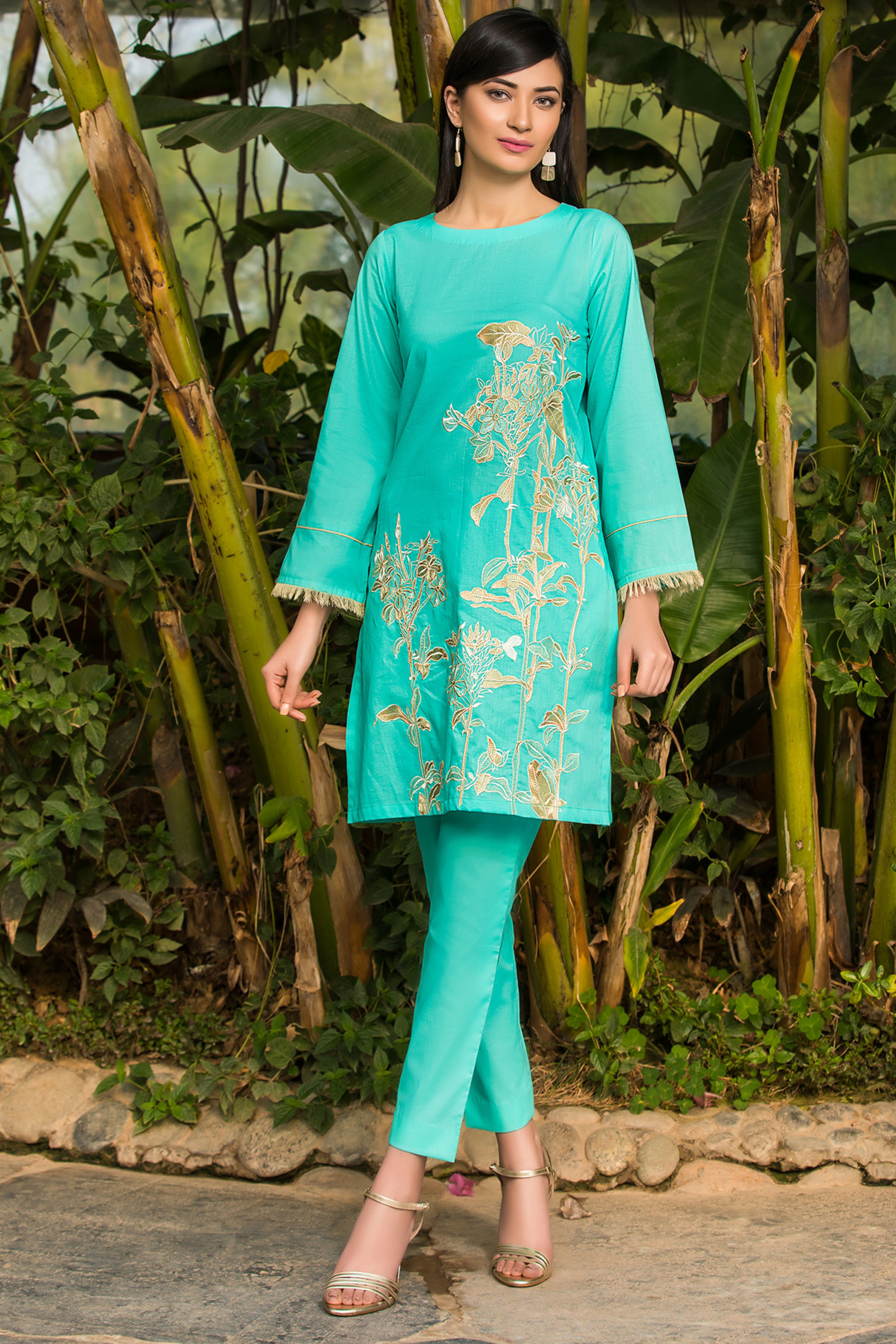 FLORAL SUMMER ( EMBROIDERED SHIRT & TROUSER )