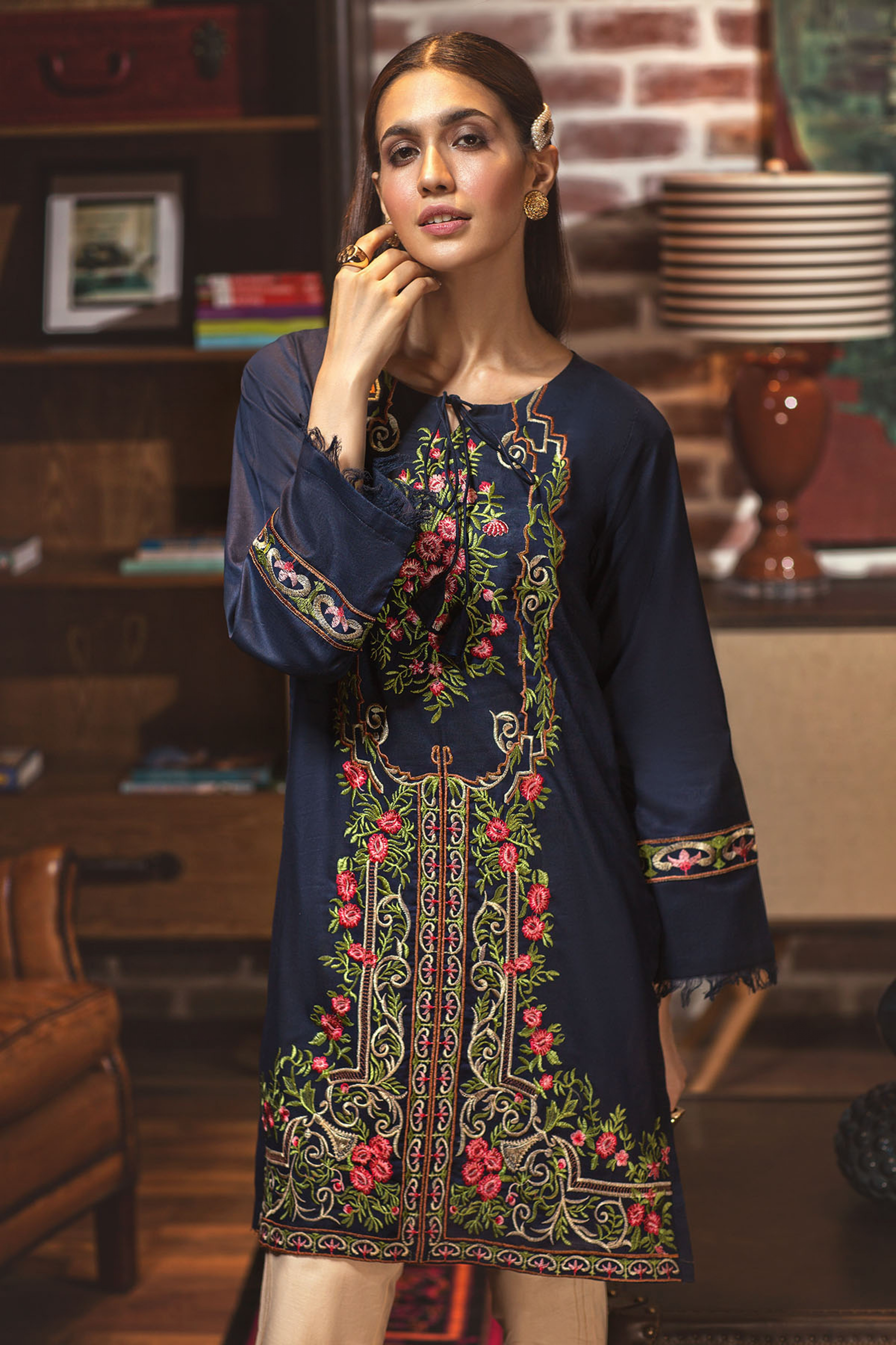 Floral Ethnic (Embroidered Shirt)