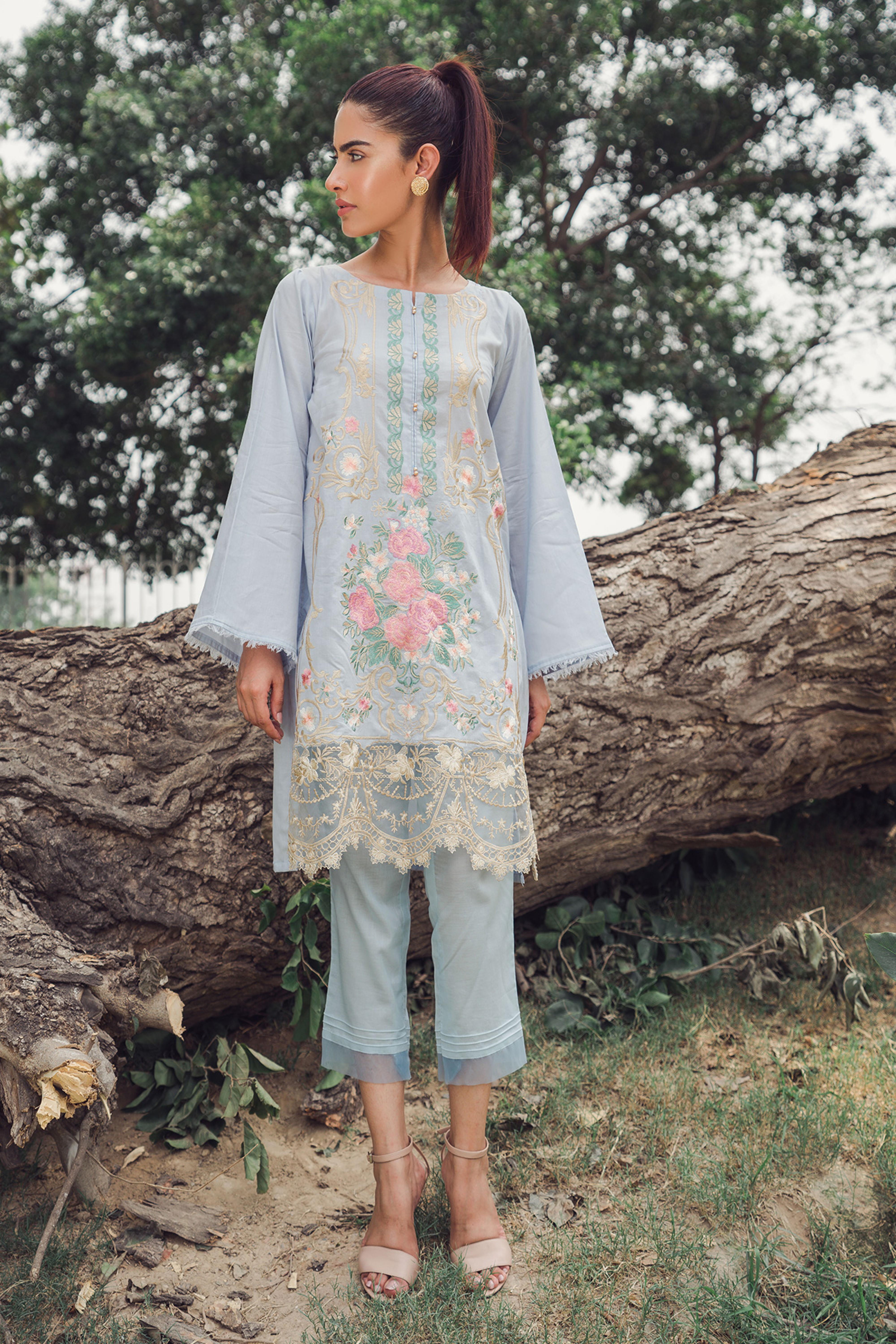 FLORAL WAVE (EMBROIDERED SHIRT & TROUSER)