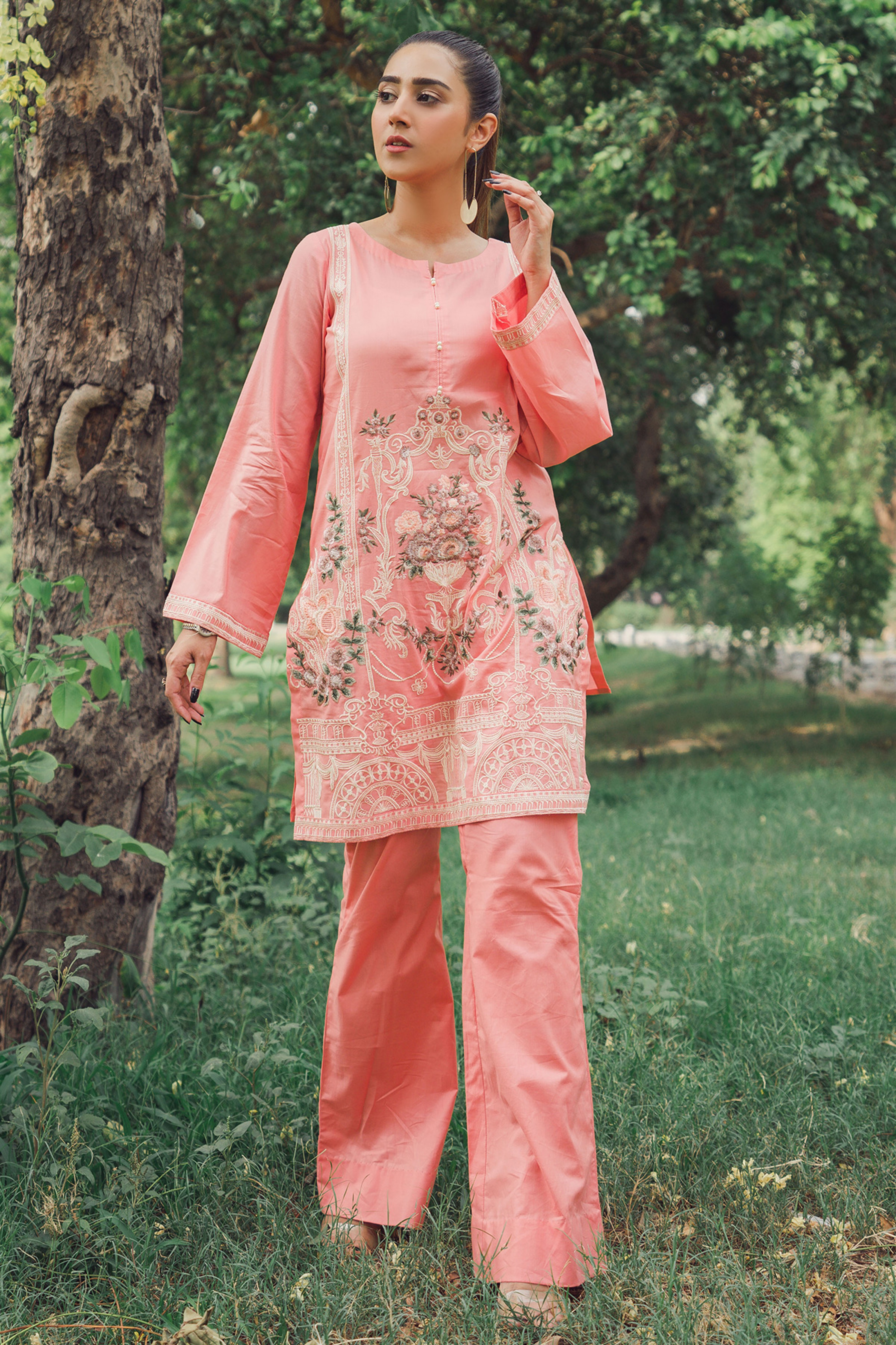 TROPICA (EMBROIDERED SHIRT & TROUSER)