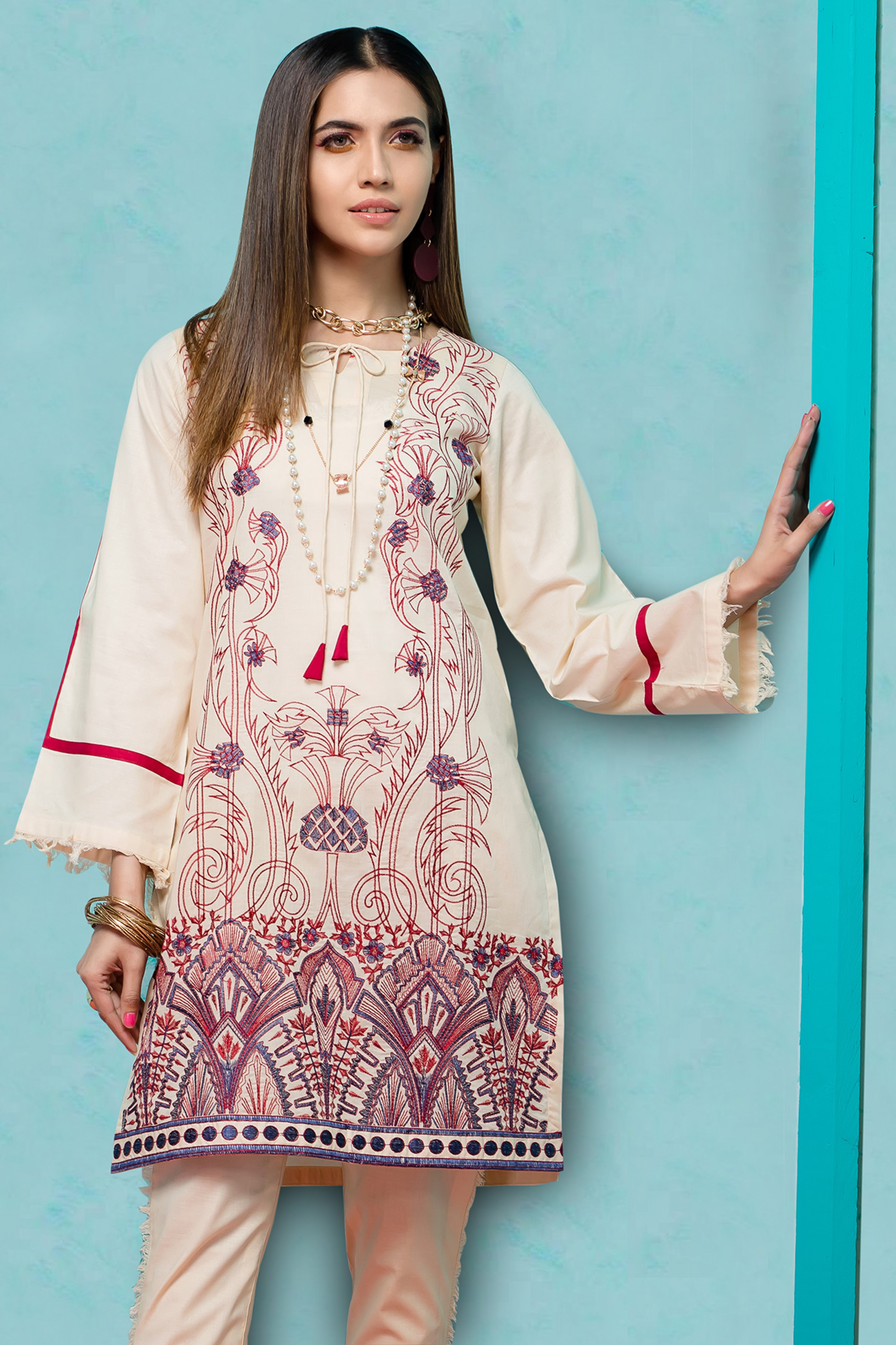 Ethnic Vibes ( Embroidered Shirt )