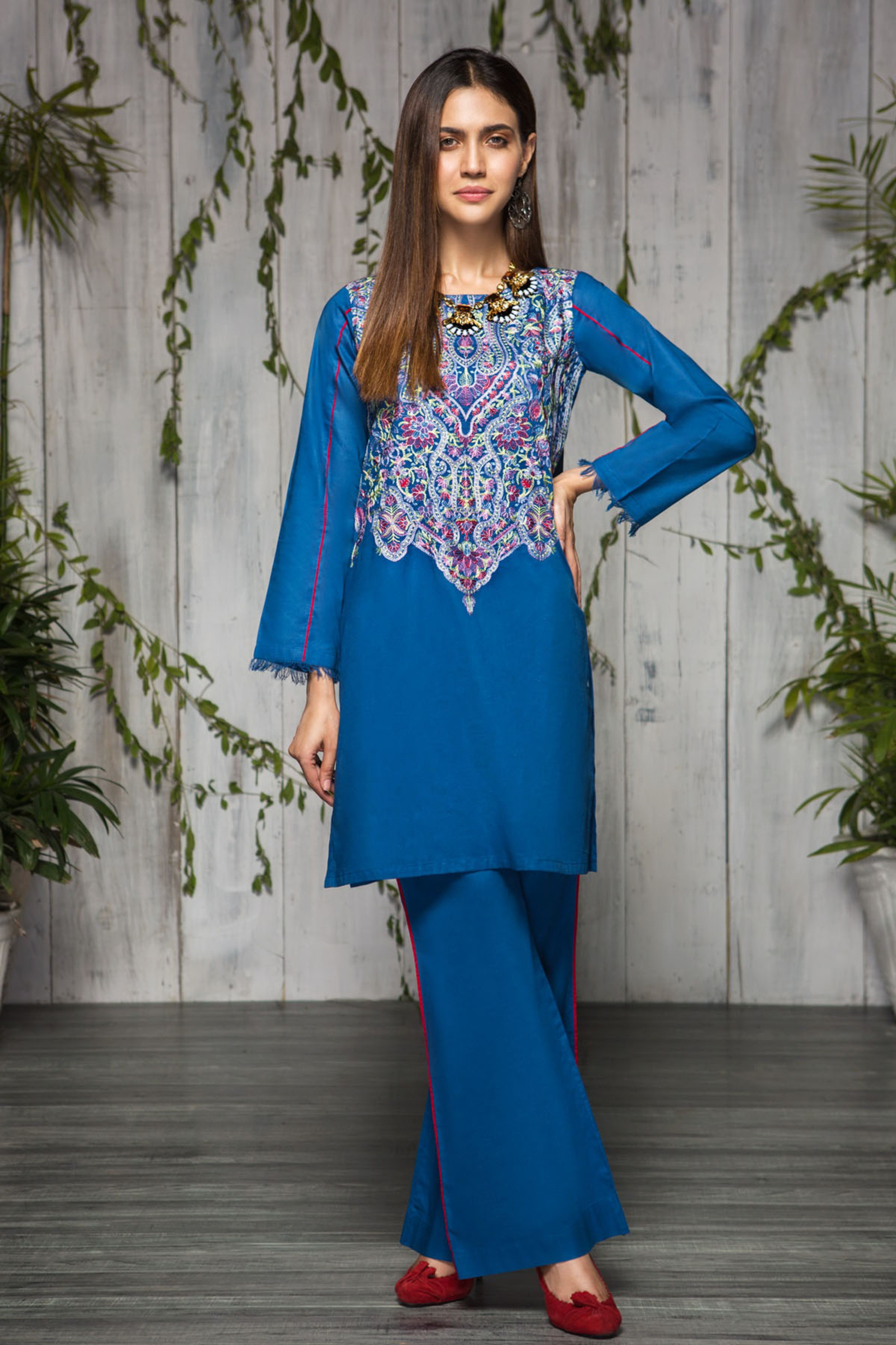 Spring Mania(Embroidered Shirt & Trouser )