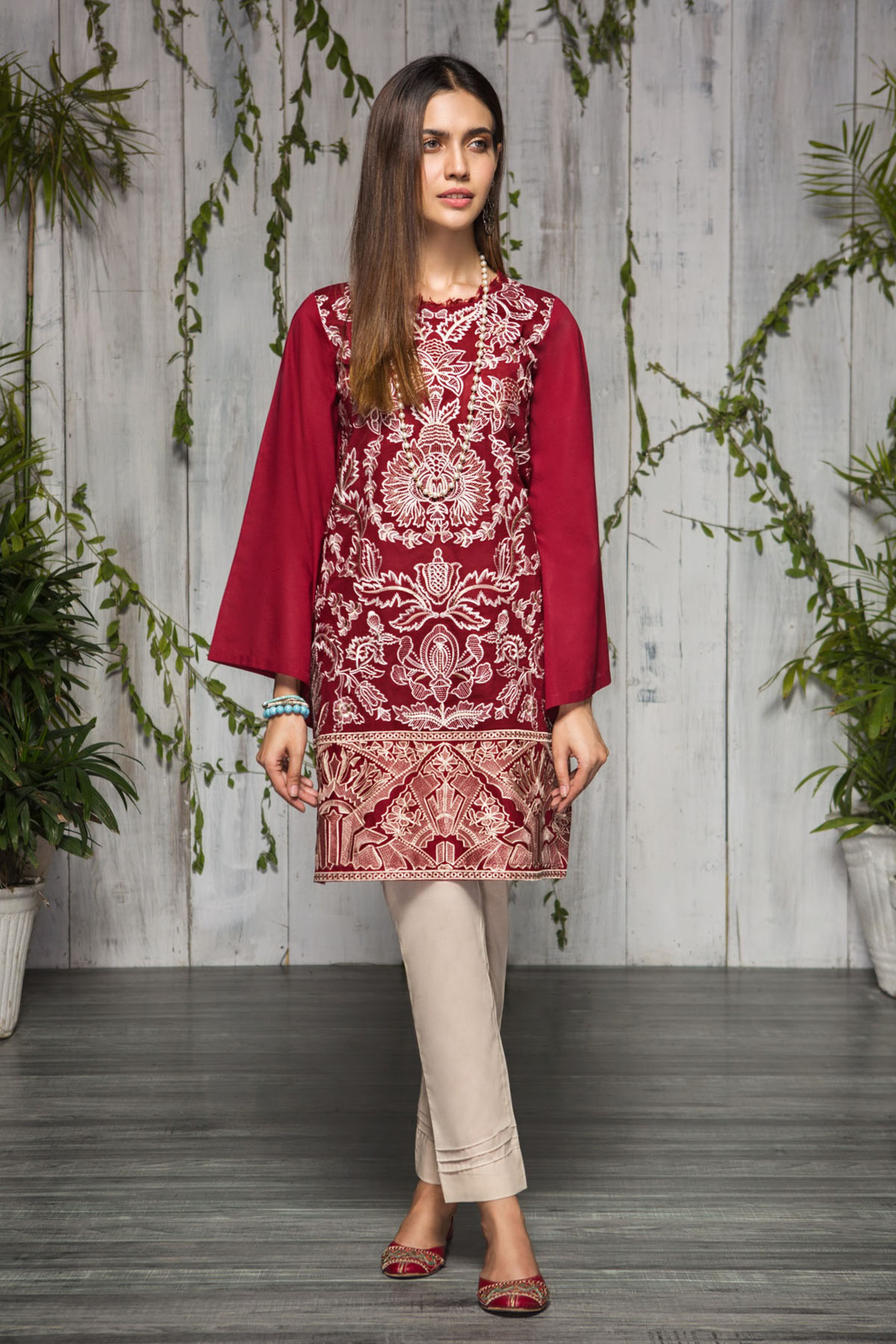 Rose Bush (Embroidered Shirt & Trouser )