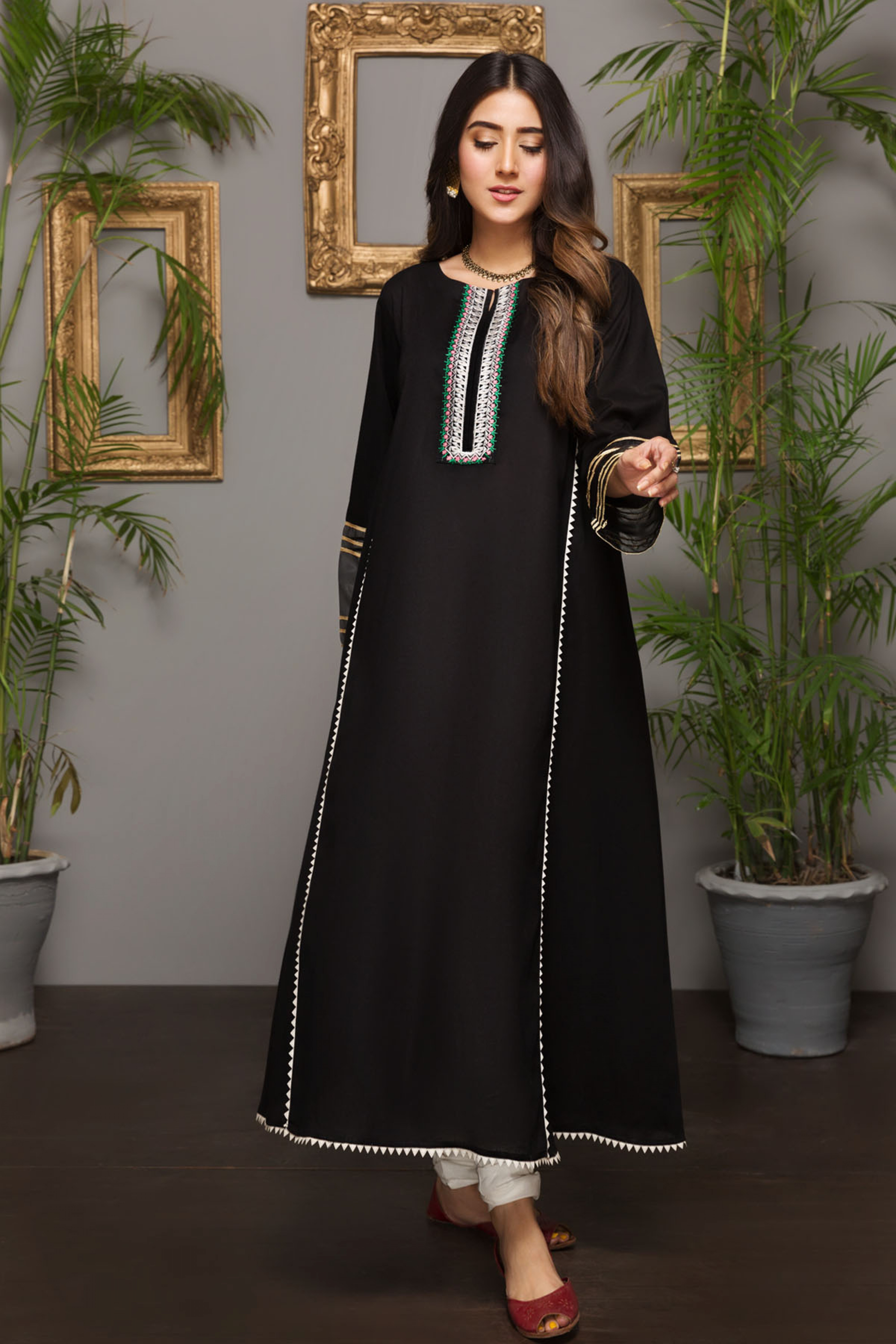 BLACK SUN (EMBROIDERED FROCK )