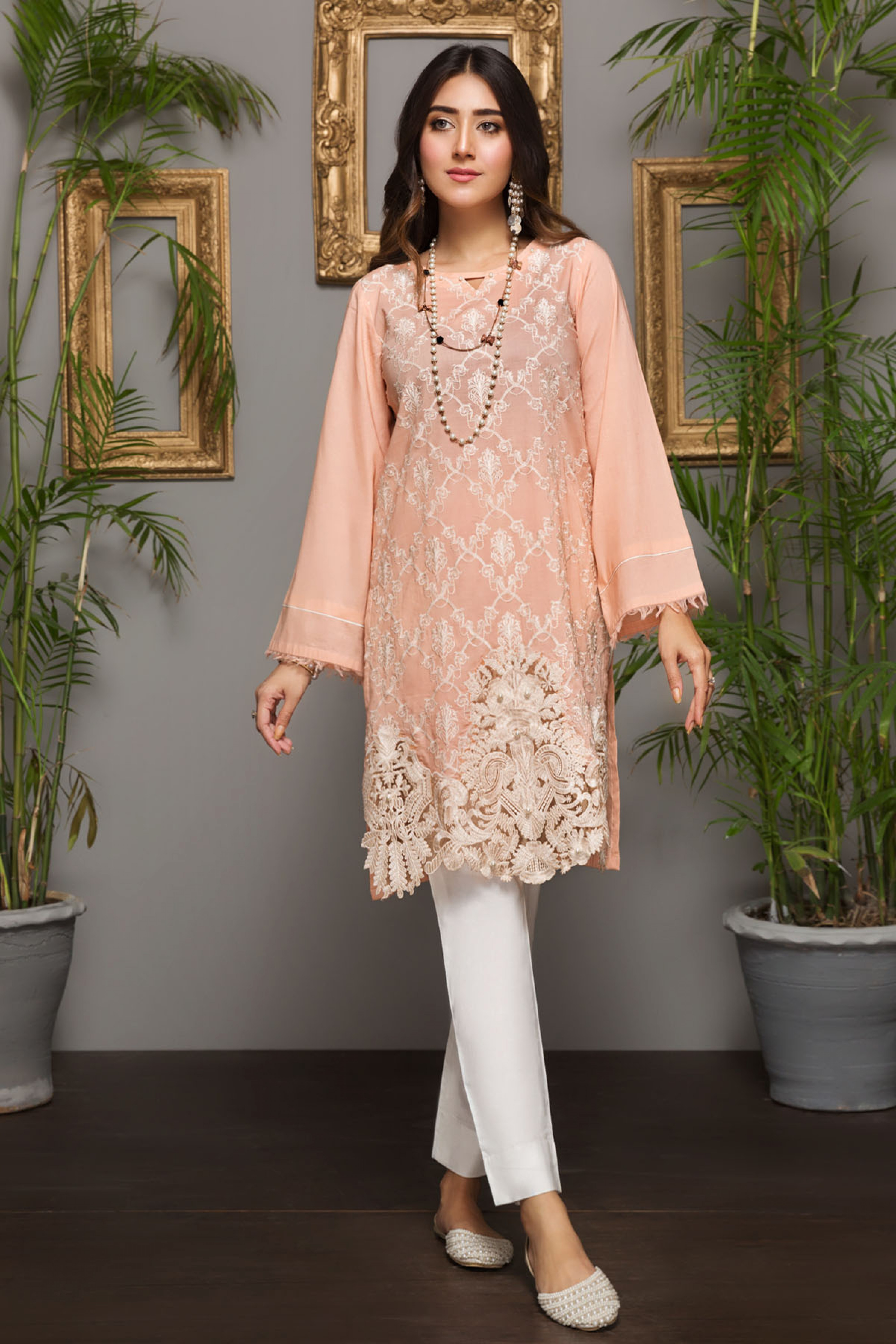 PEACH MELODY (EMBROIDERED SHIRT)
