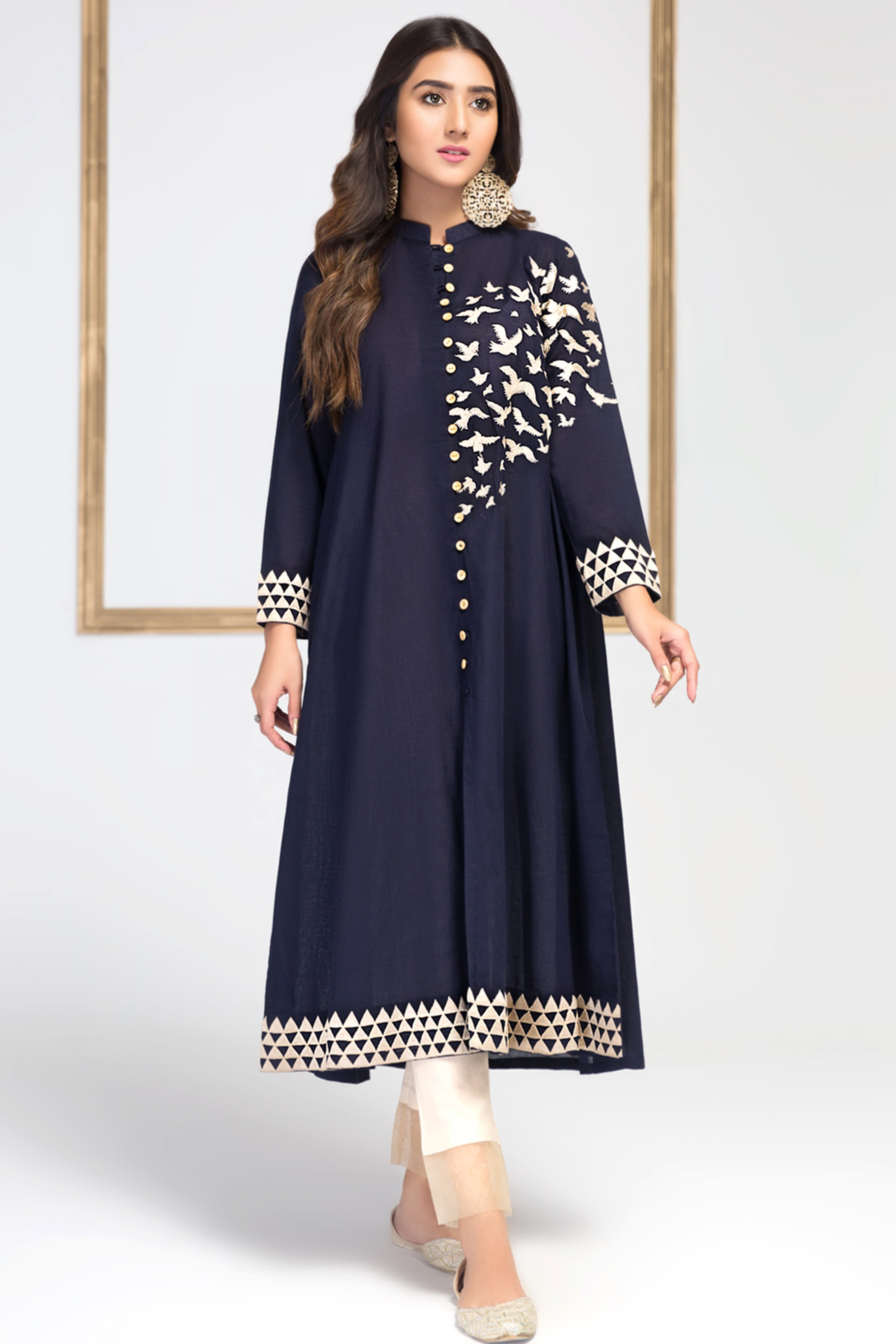 Blue Moon (Embroidered Frock )
