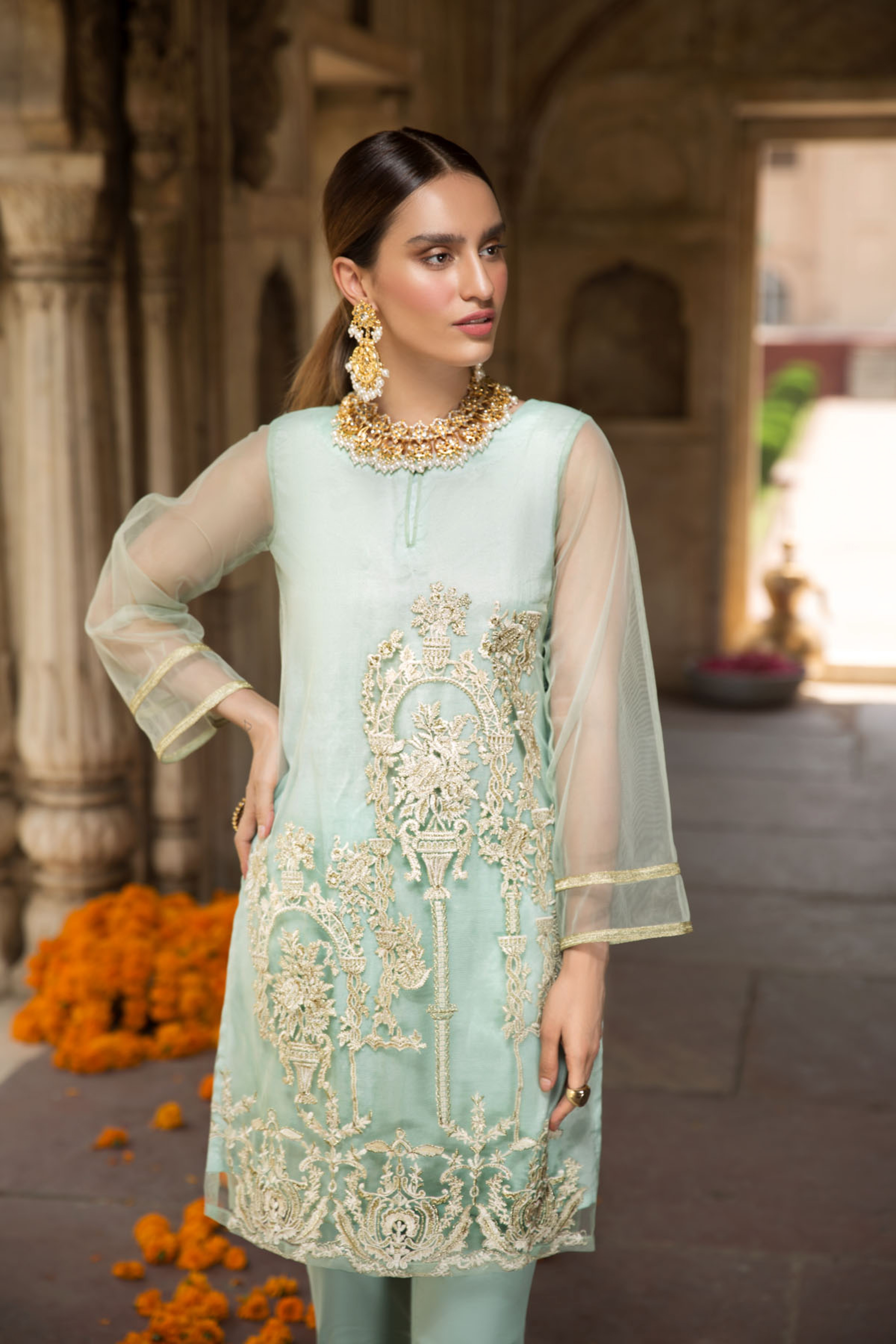 Feroza ( EMBROIDERED SHIRT & TROUSER )