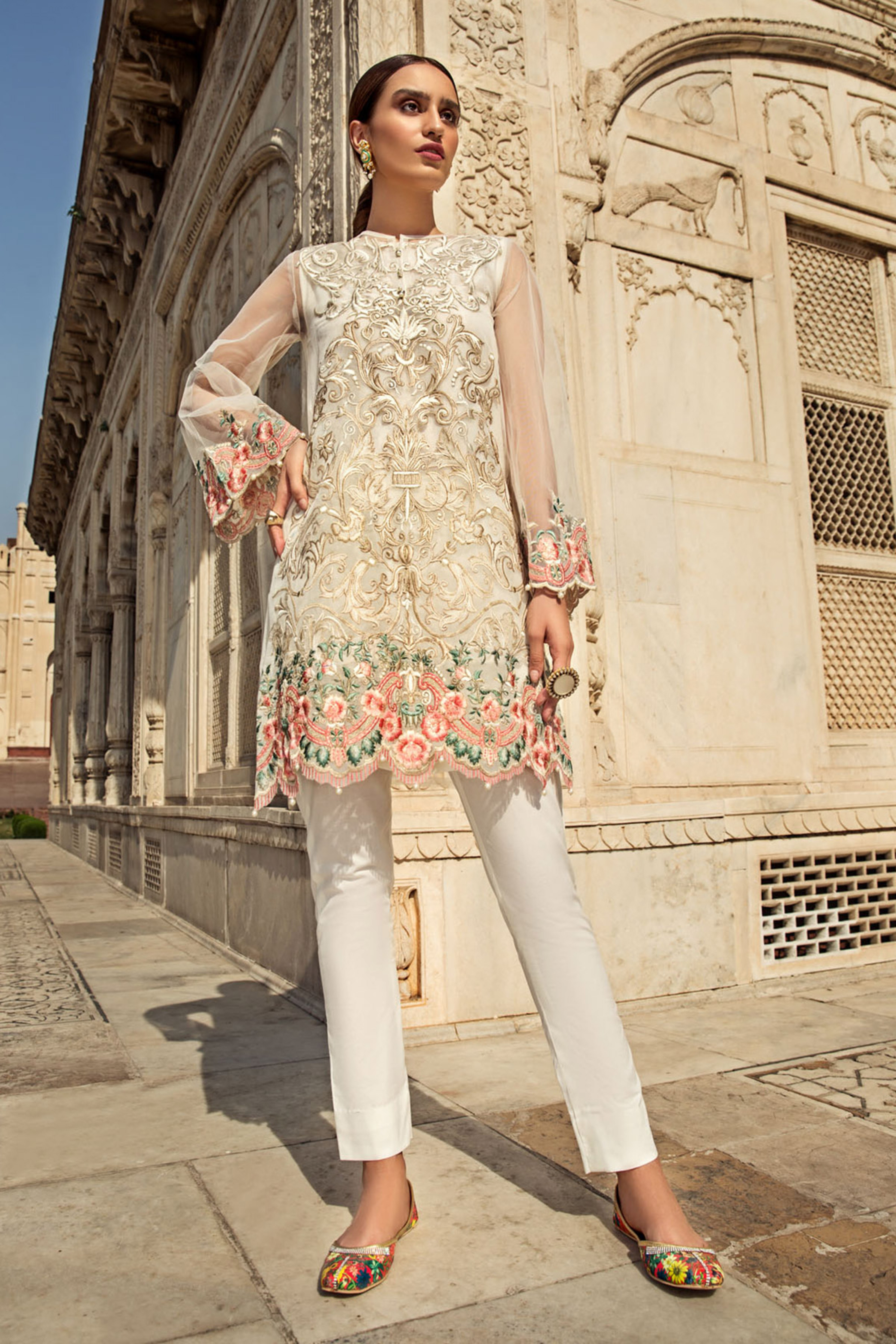 MARJAAN ( EMBROIDERED SHIRT & TROUSER )