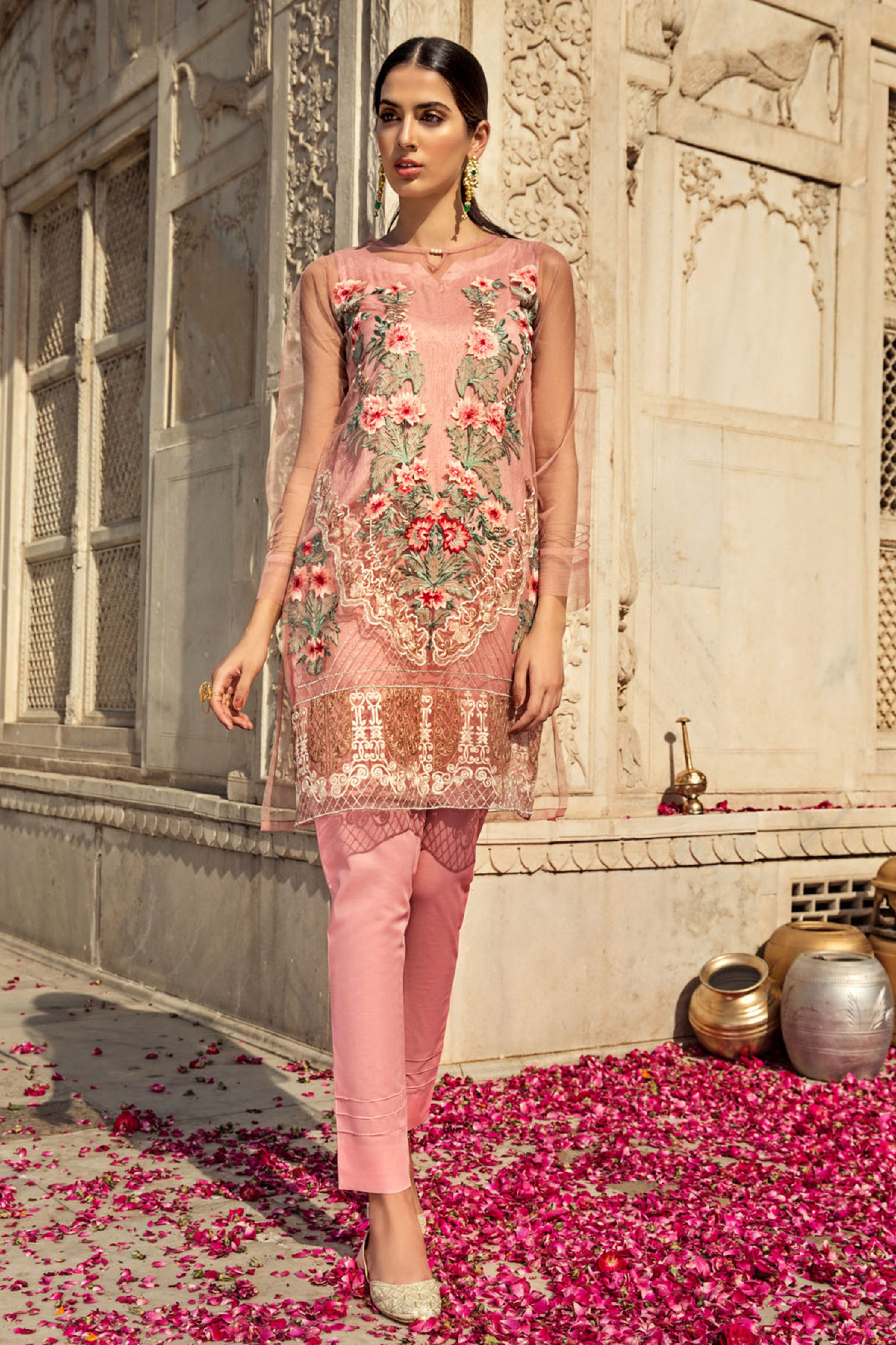 NOOR MEHAL ( EMBROIDERED SHIRT & TROUSER )