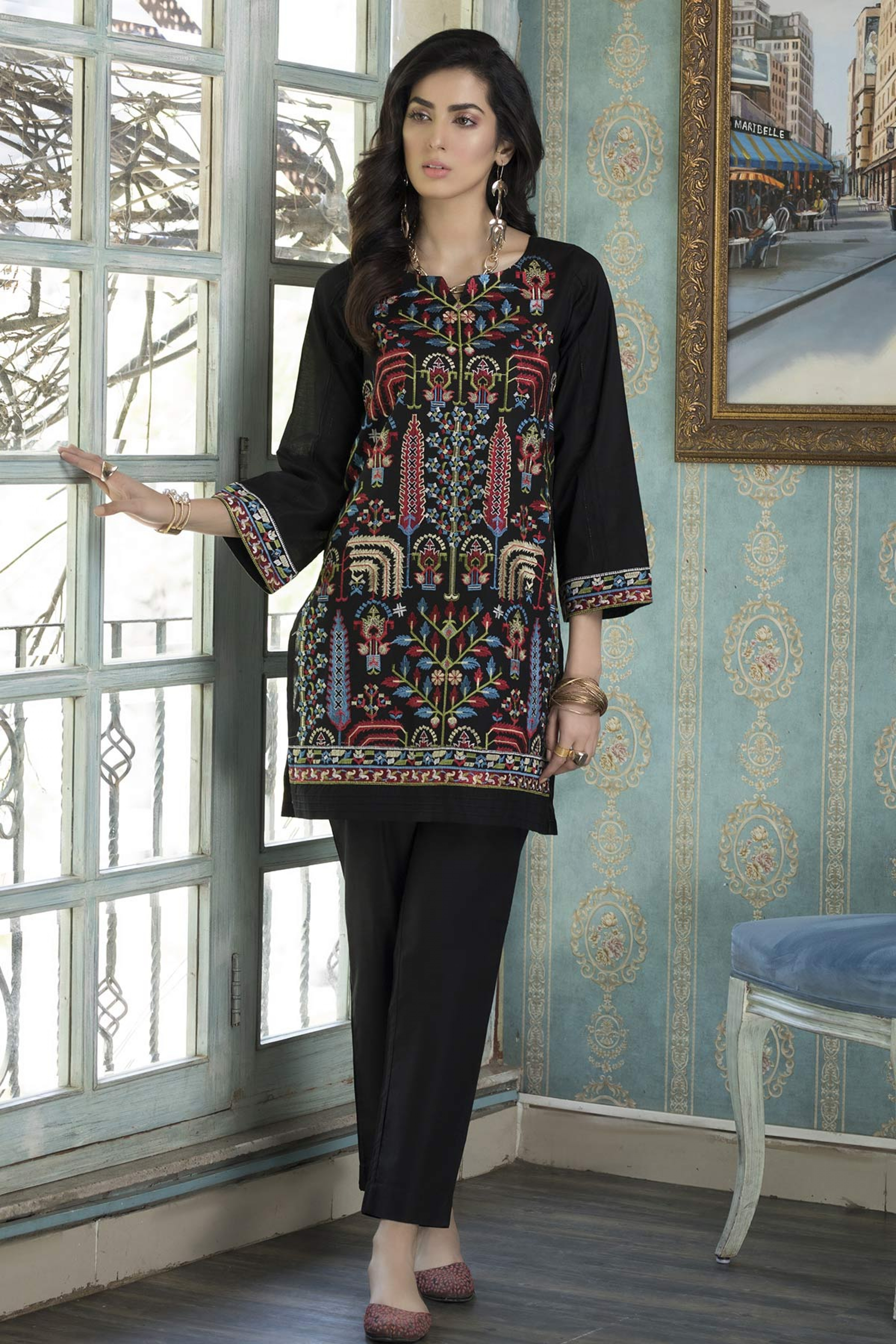 BUTTER CUP (EMBROIDERED SHIRT & TROUSER )