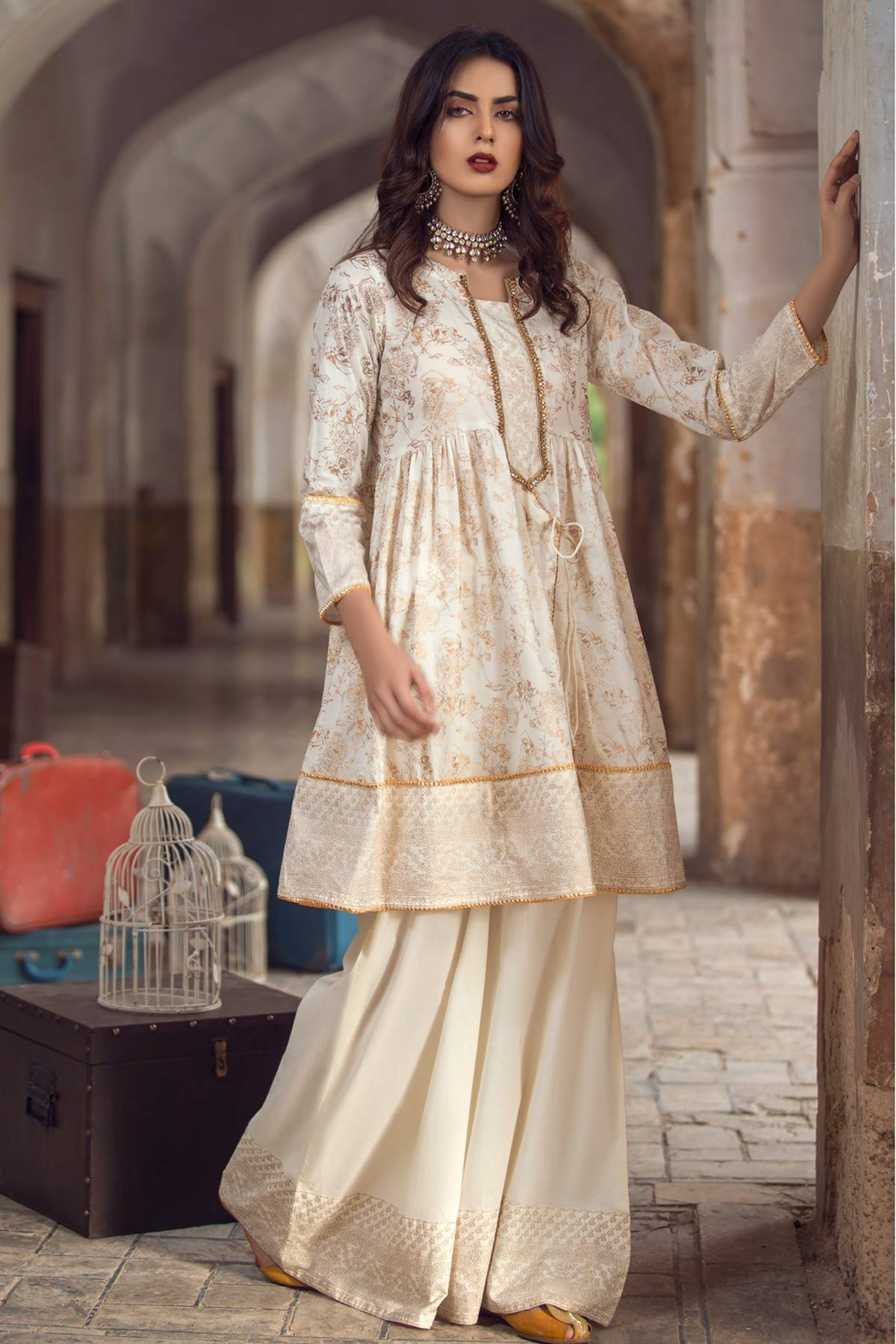 KANWAL ( GOLD PRINTED SHIRT)