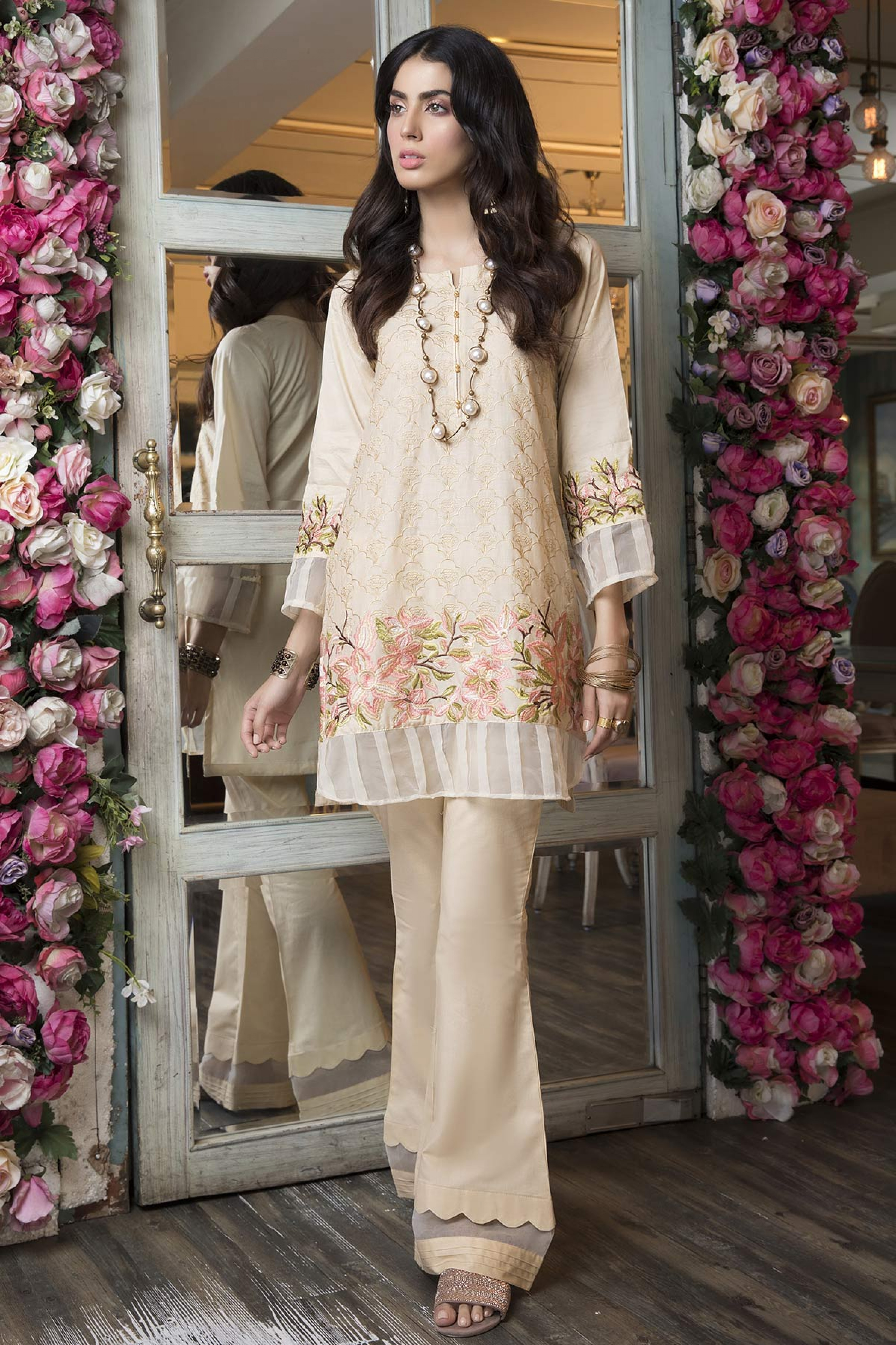 FLORAL FANTASY (EMBROIDERED SHIRT & TROUSER )