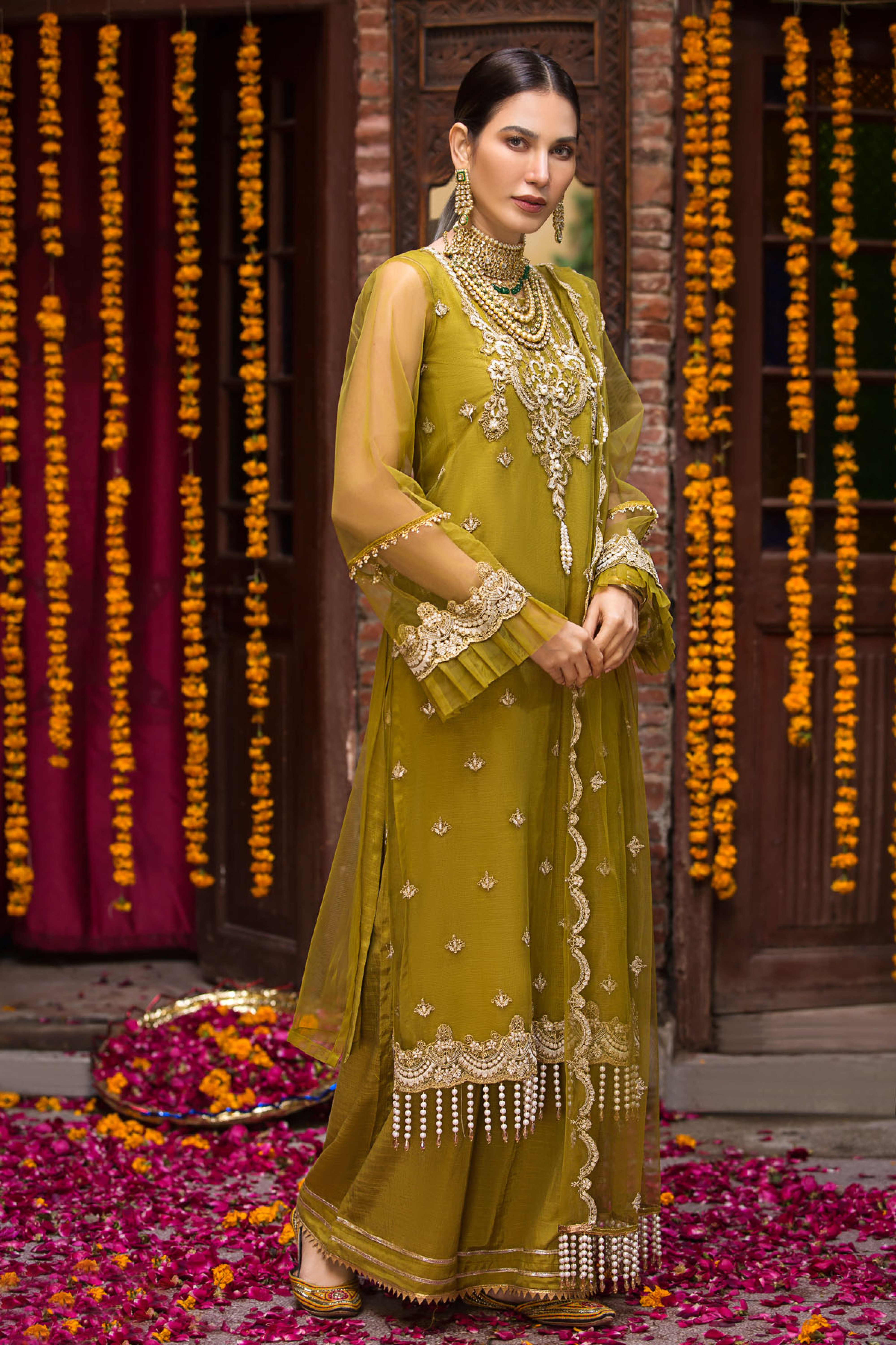 Aarzoo(Embroidered Shirt & Dupatta)