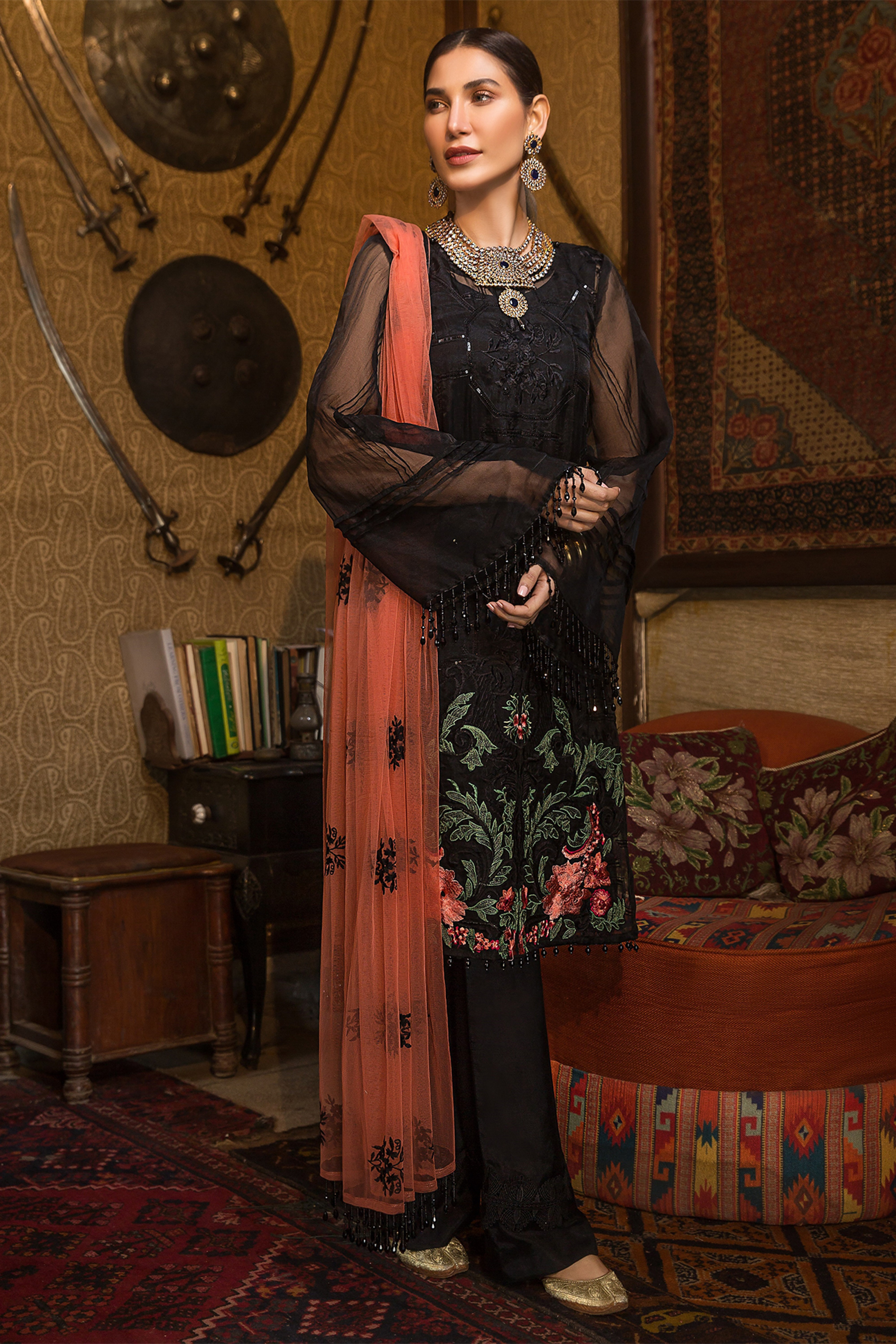 DAAWAT(Embroidered Shirt & Dupatta)
