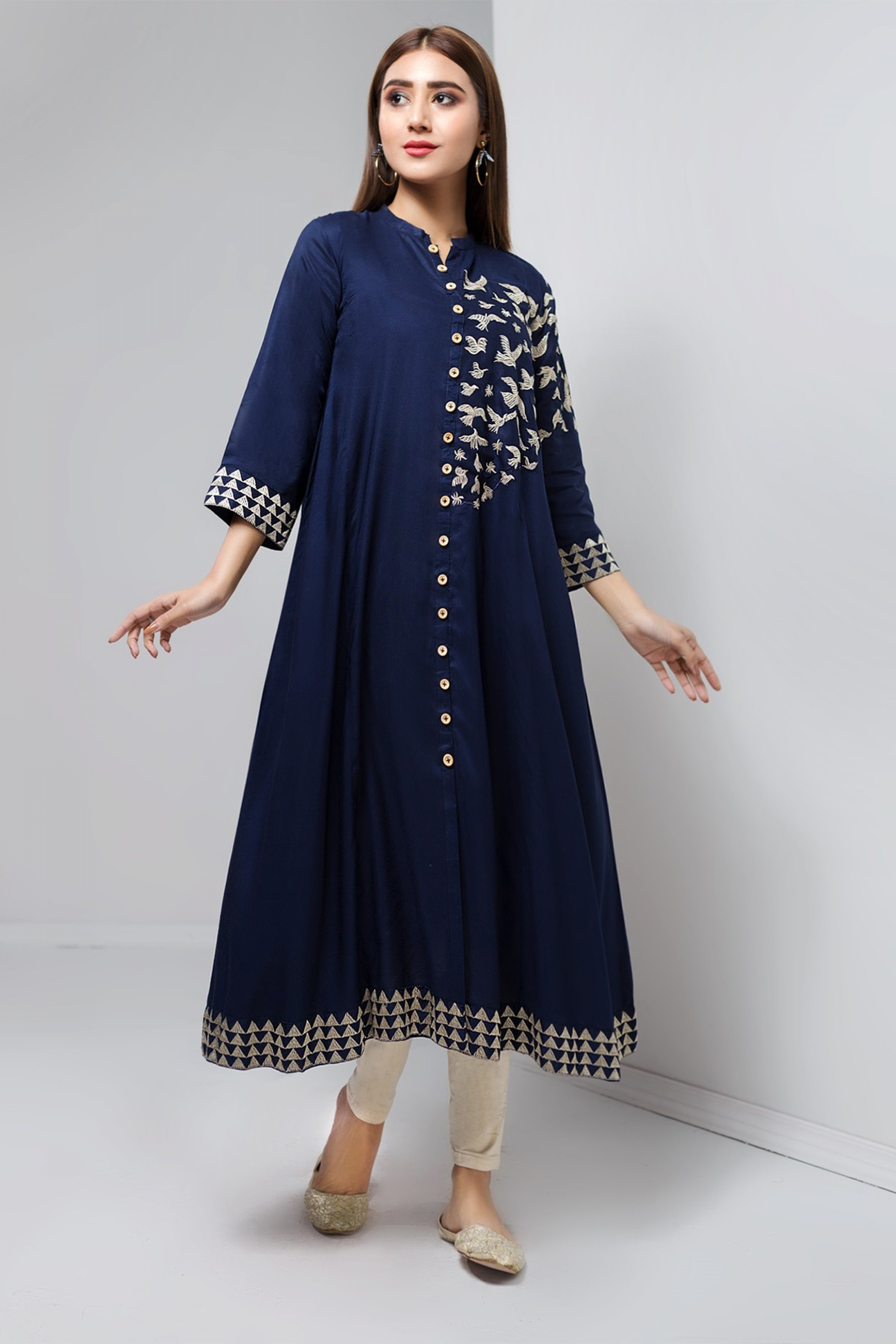 PRIMROSE BLUE(Embroidered Frock )