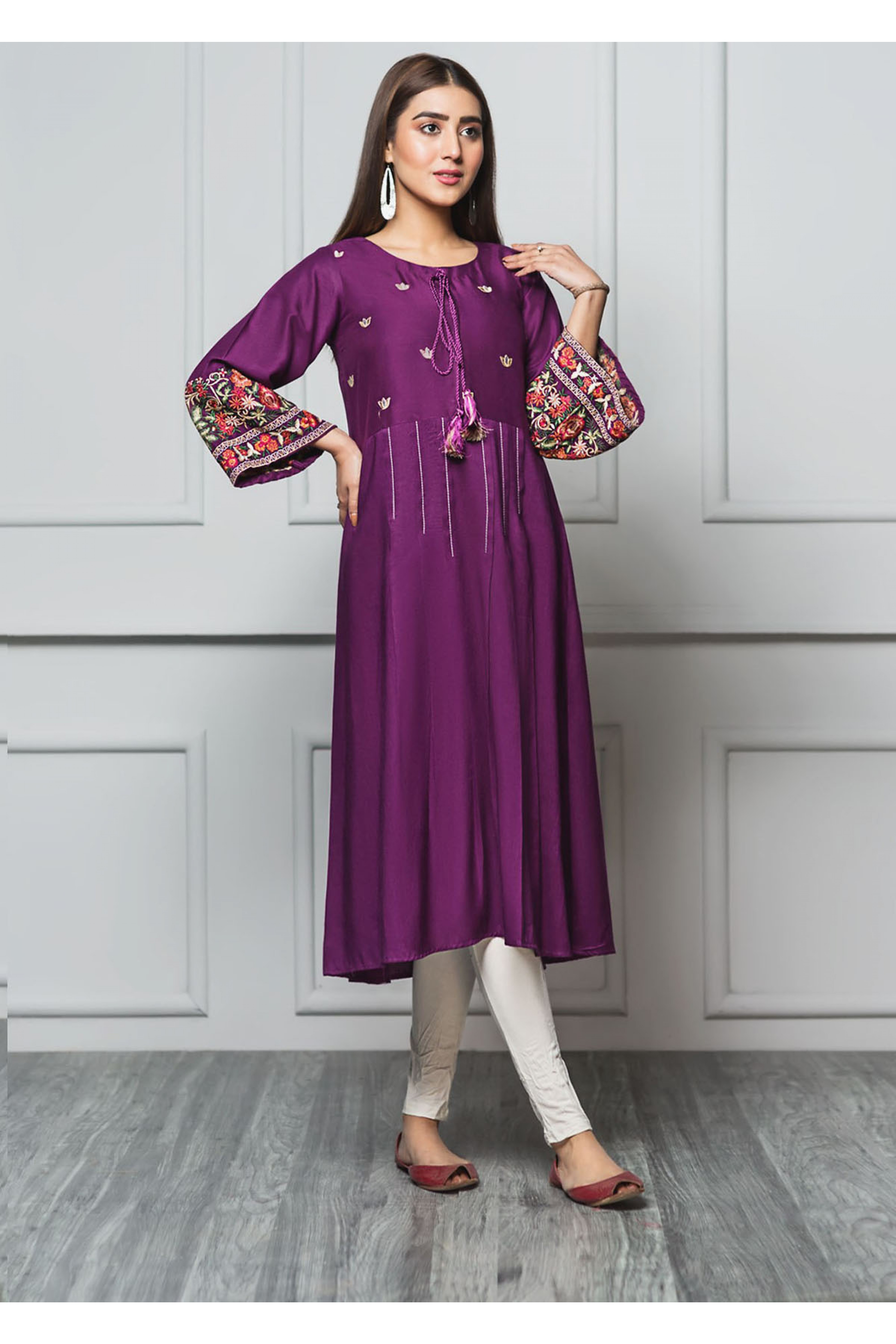 RICH LAVENDER(Embroidered Frock)