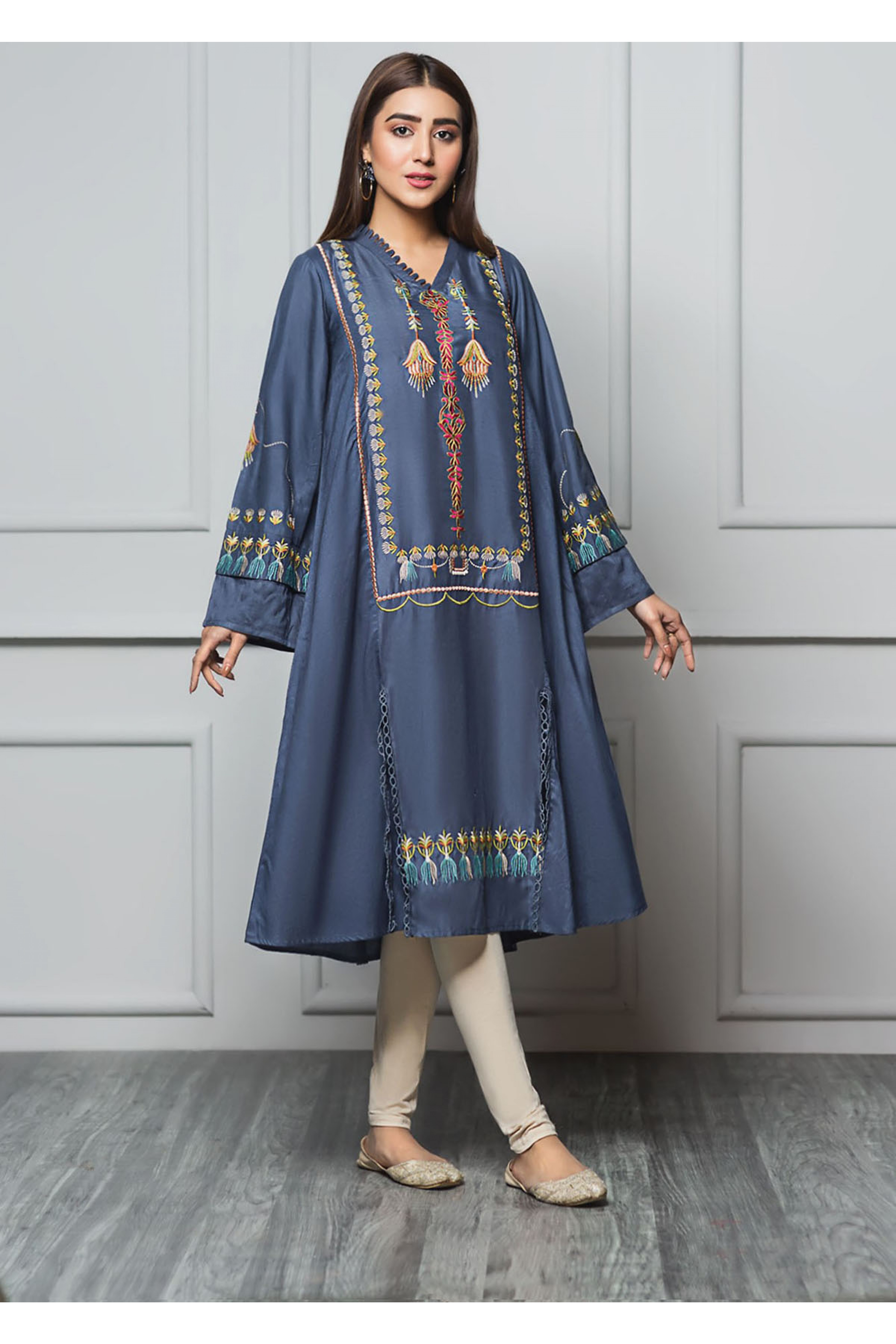 AZURE SKY(Embroidered Frock)