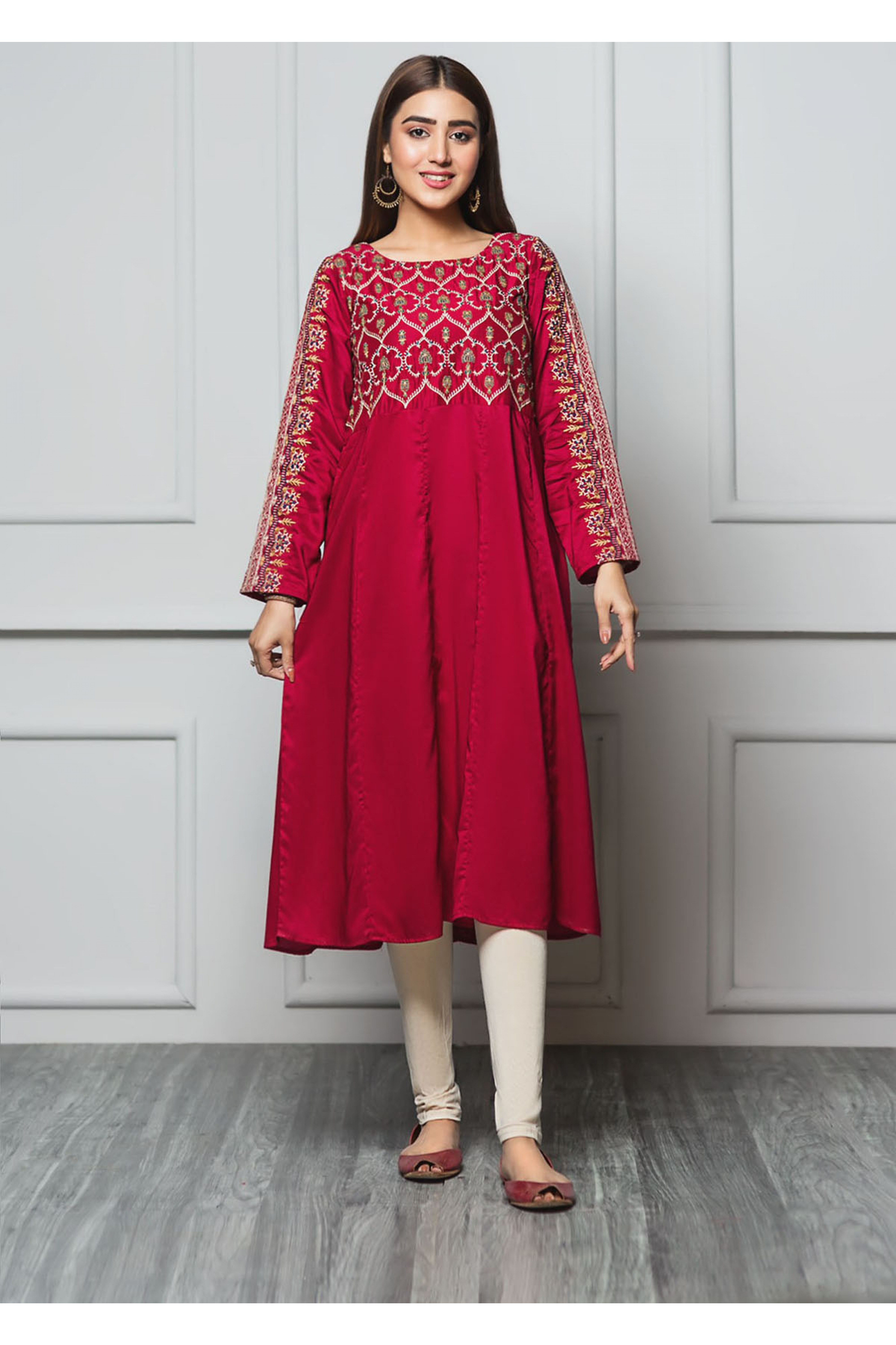 CRIMSON(Embroidered Frock)