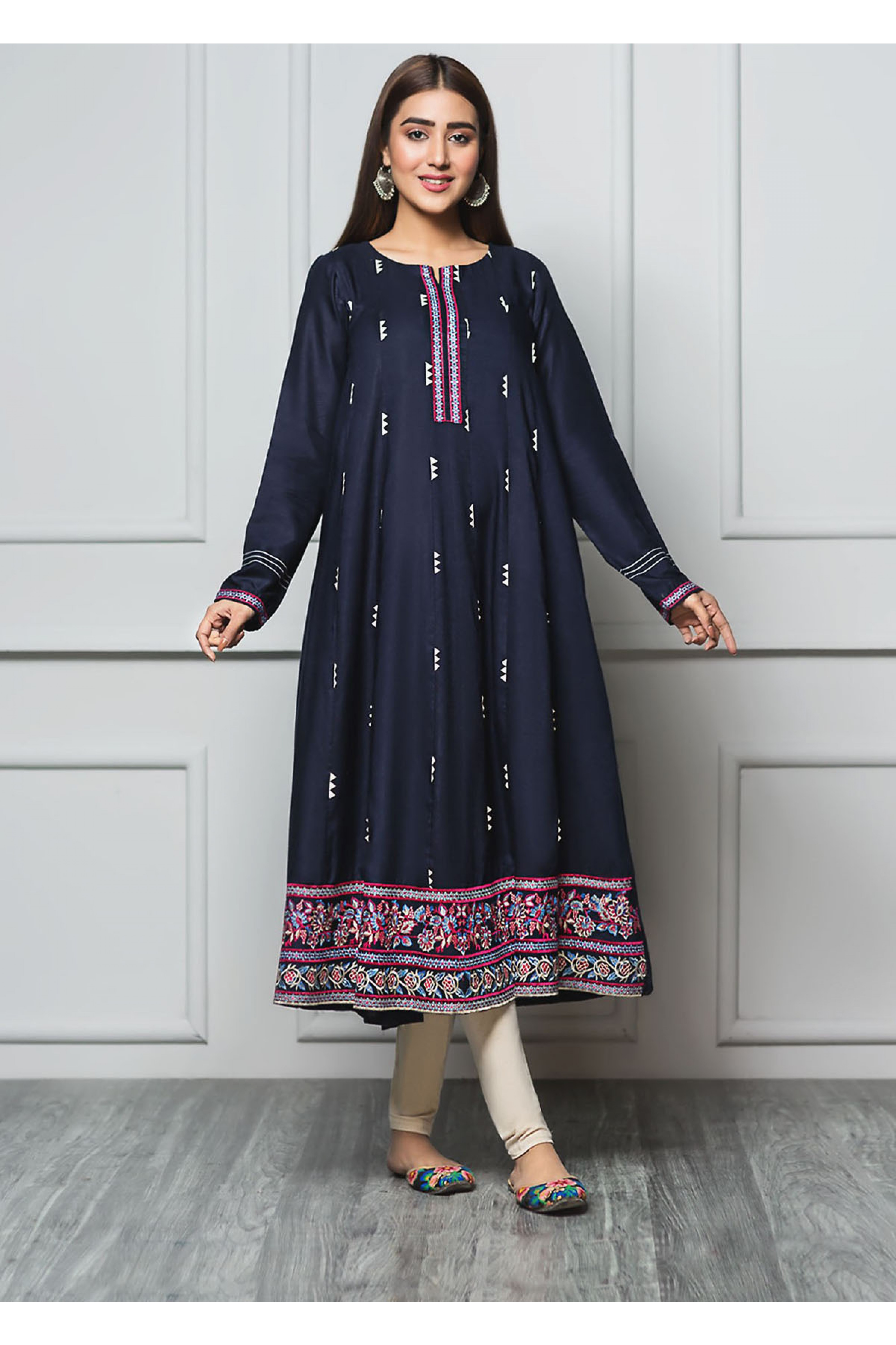 PERSIAN RUBY(Embroidered Frock)