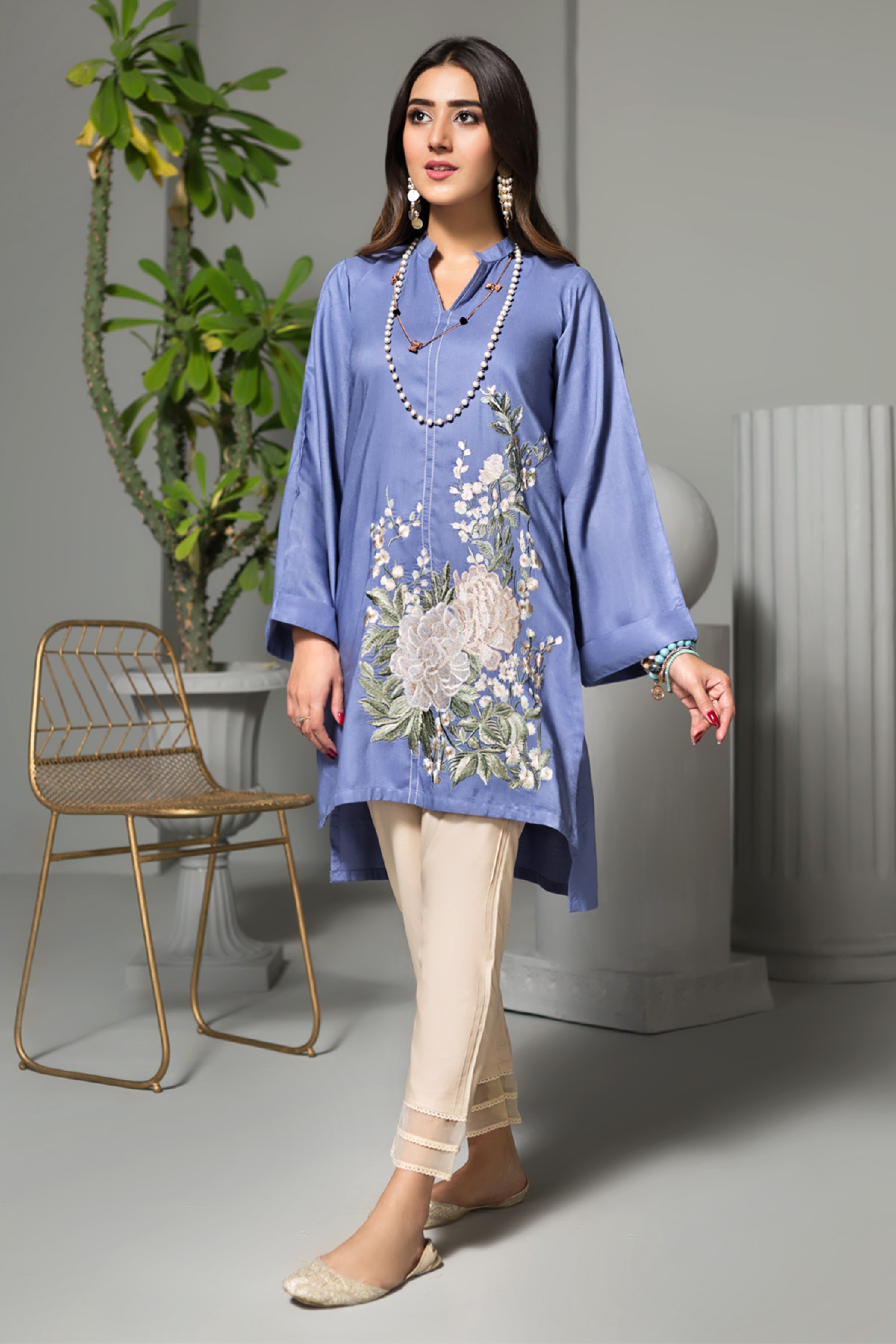 UNDERTHE SEA(Embroidered Kurta)