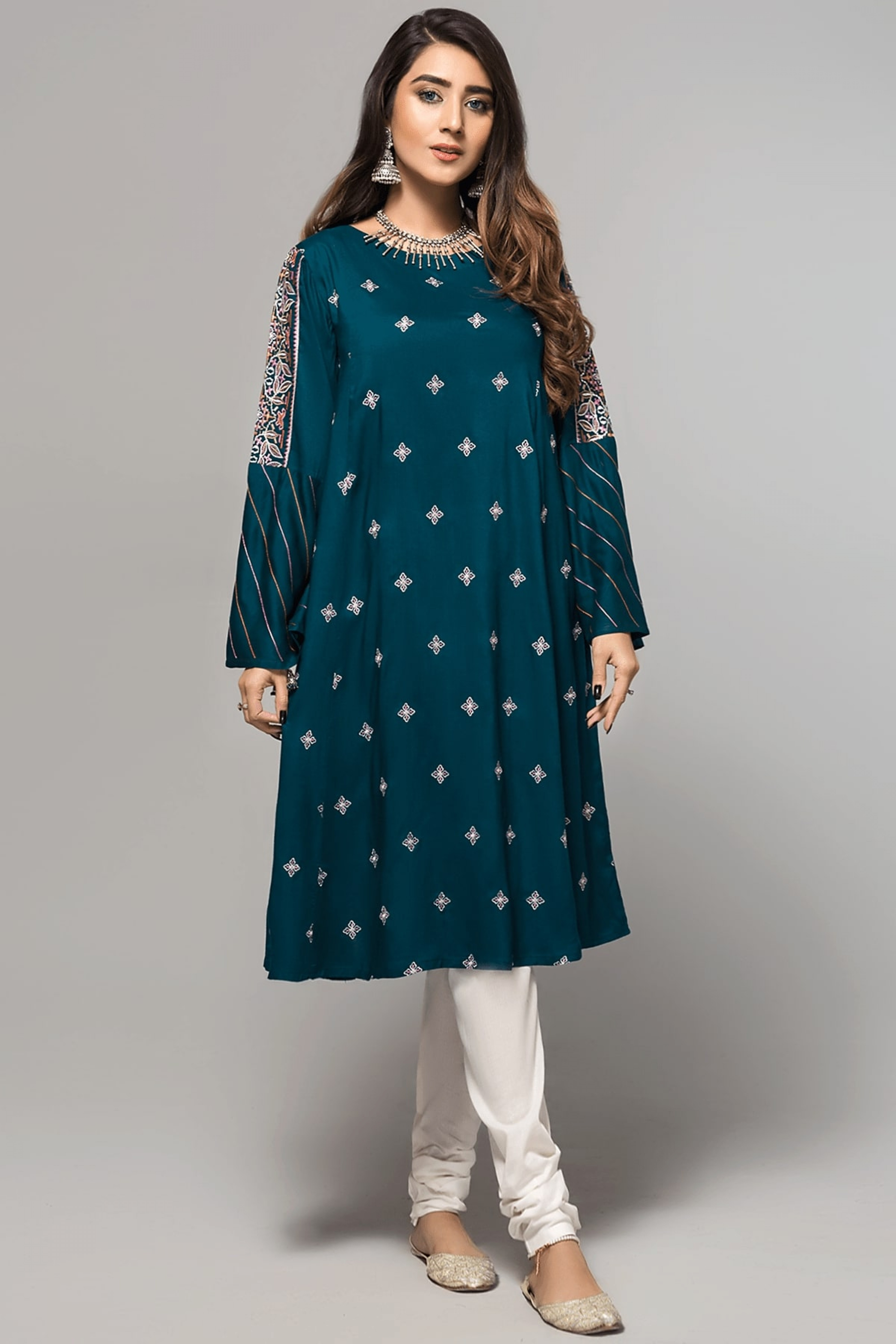 JASMINE FLORA(Embroidered Frock)