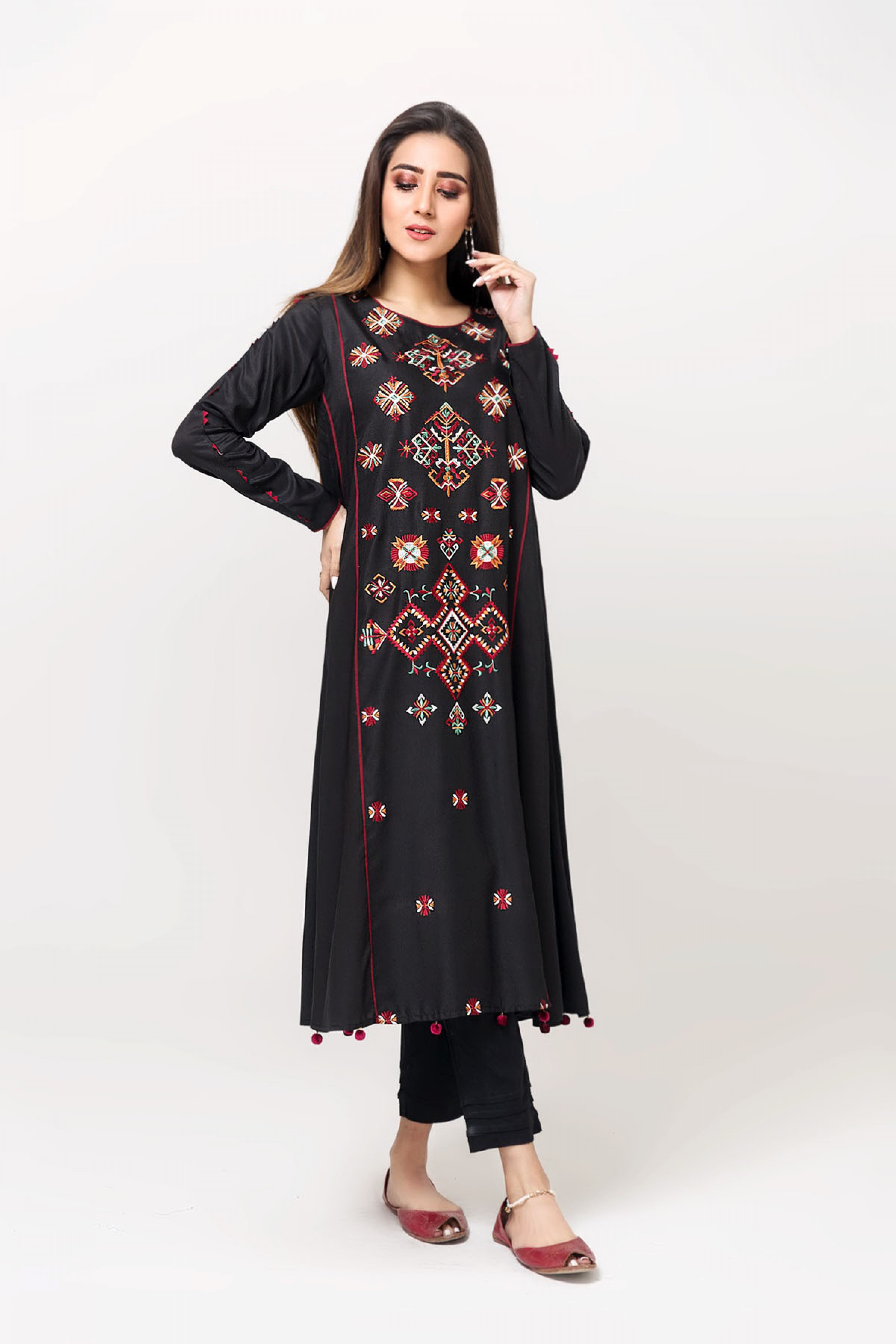 ETHNIC VIBES(Embroidered Frock)