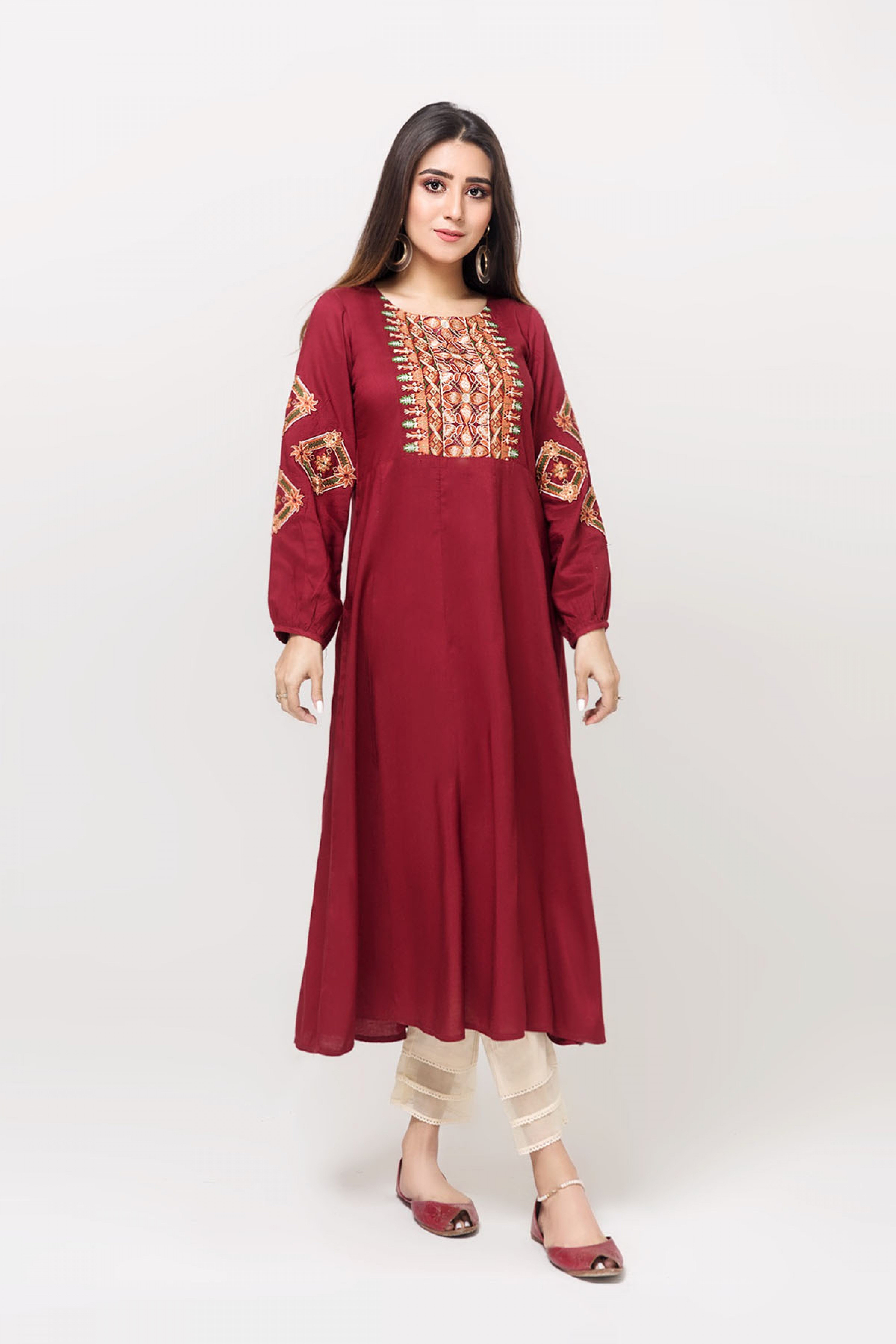 LUSCIOUS ROSE(Embroidered Frock)