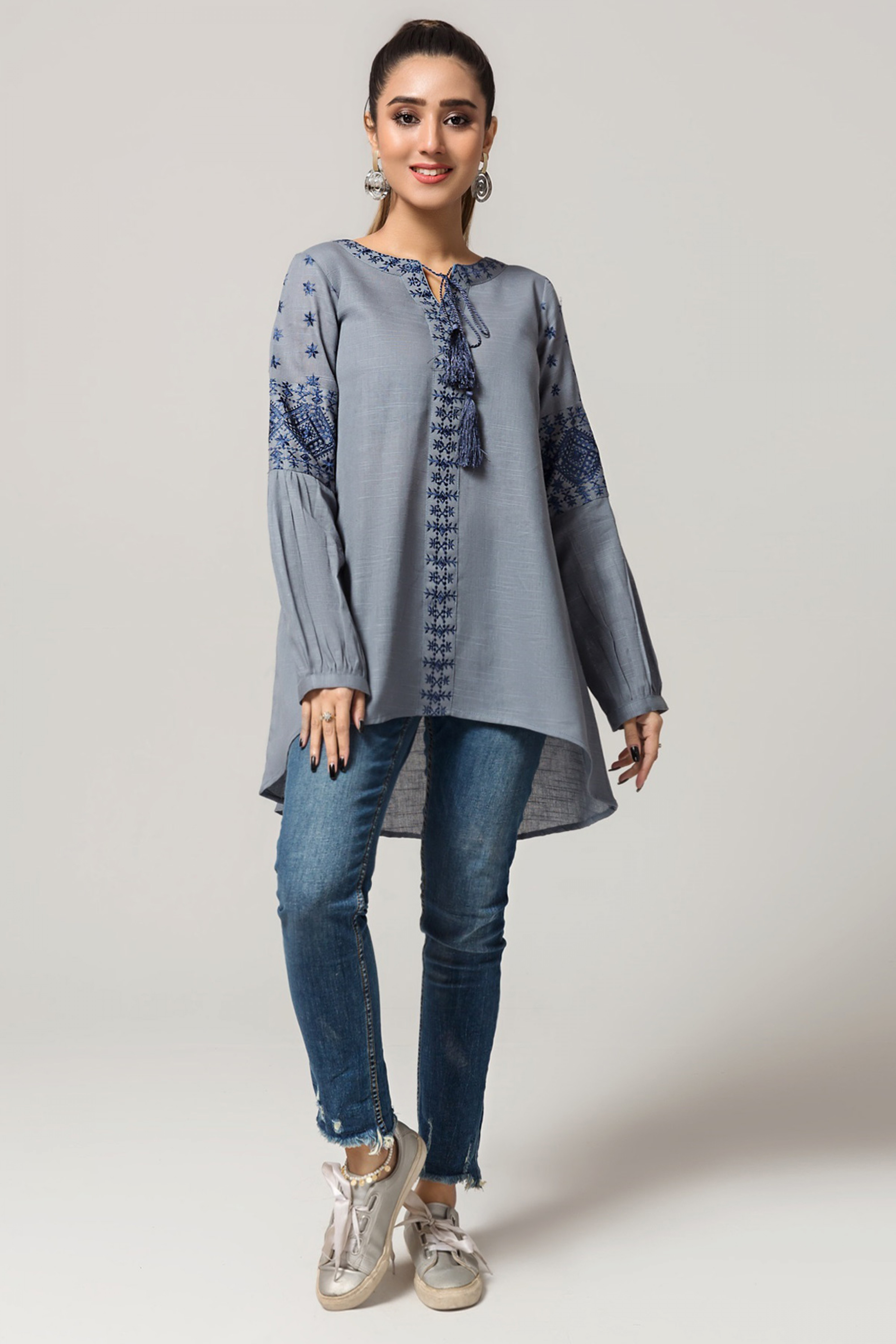 NIGHT FALL(Embroidered Top)