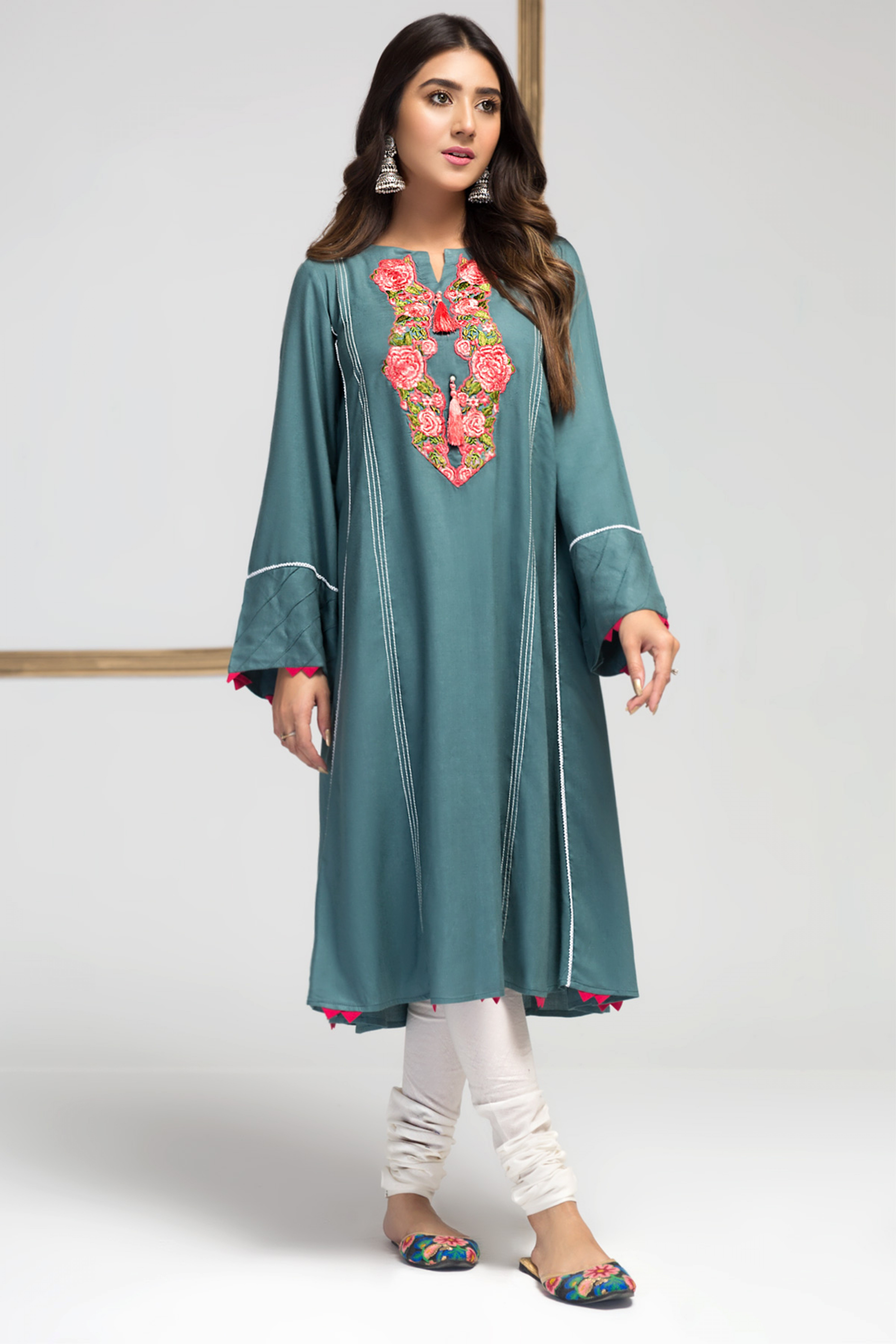 Floral Field (Embroidred Frock)