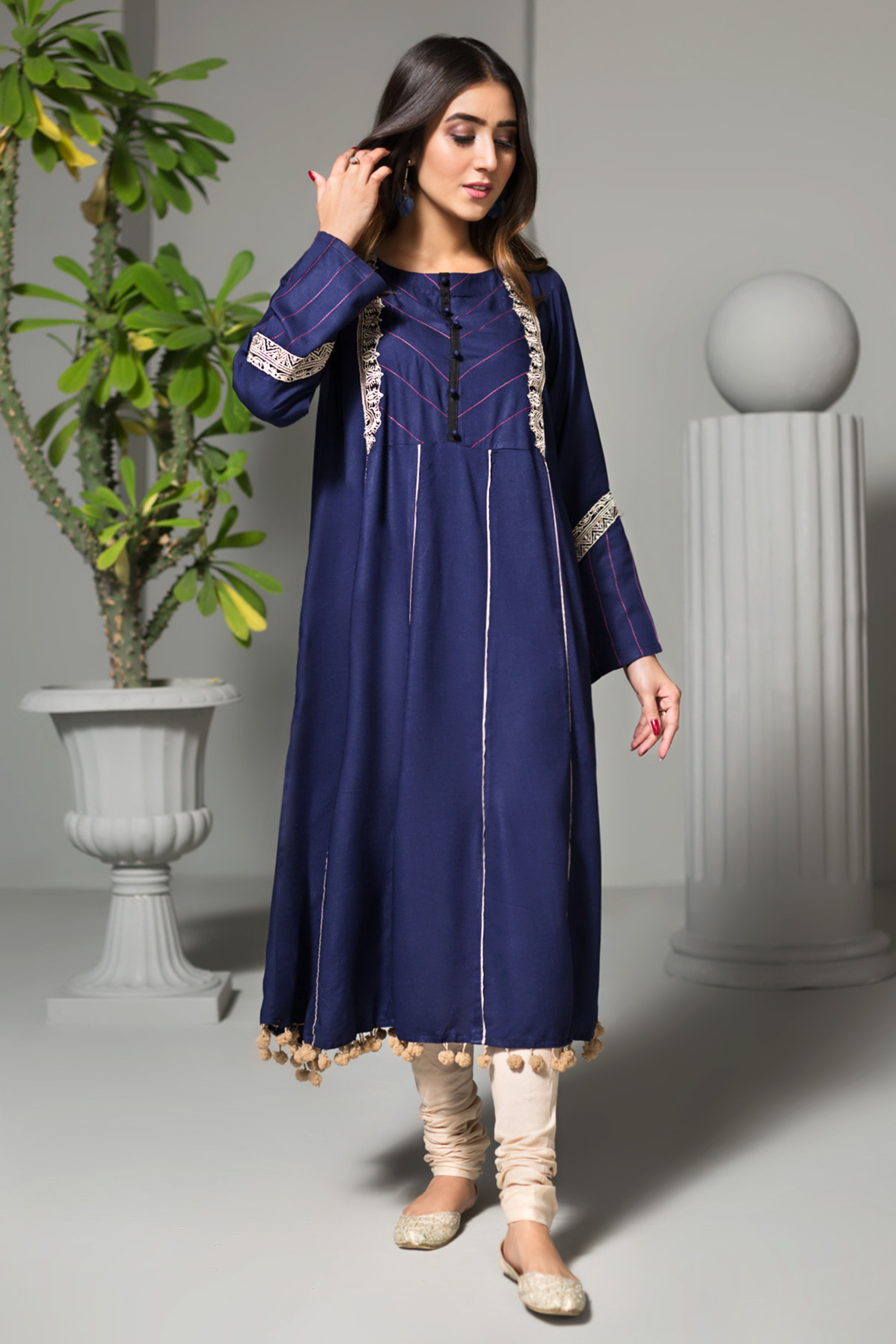 RIVER SIDE(Embroidered Frock)