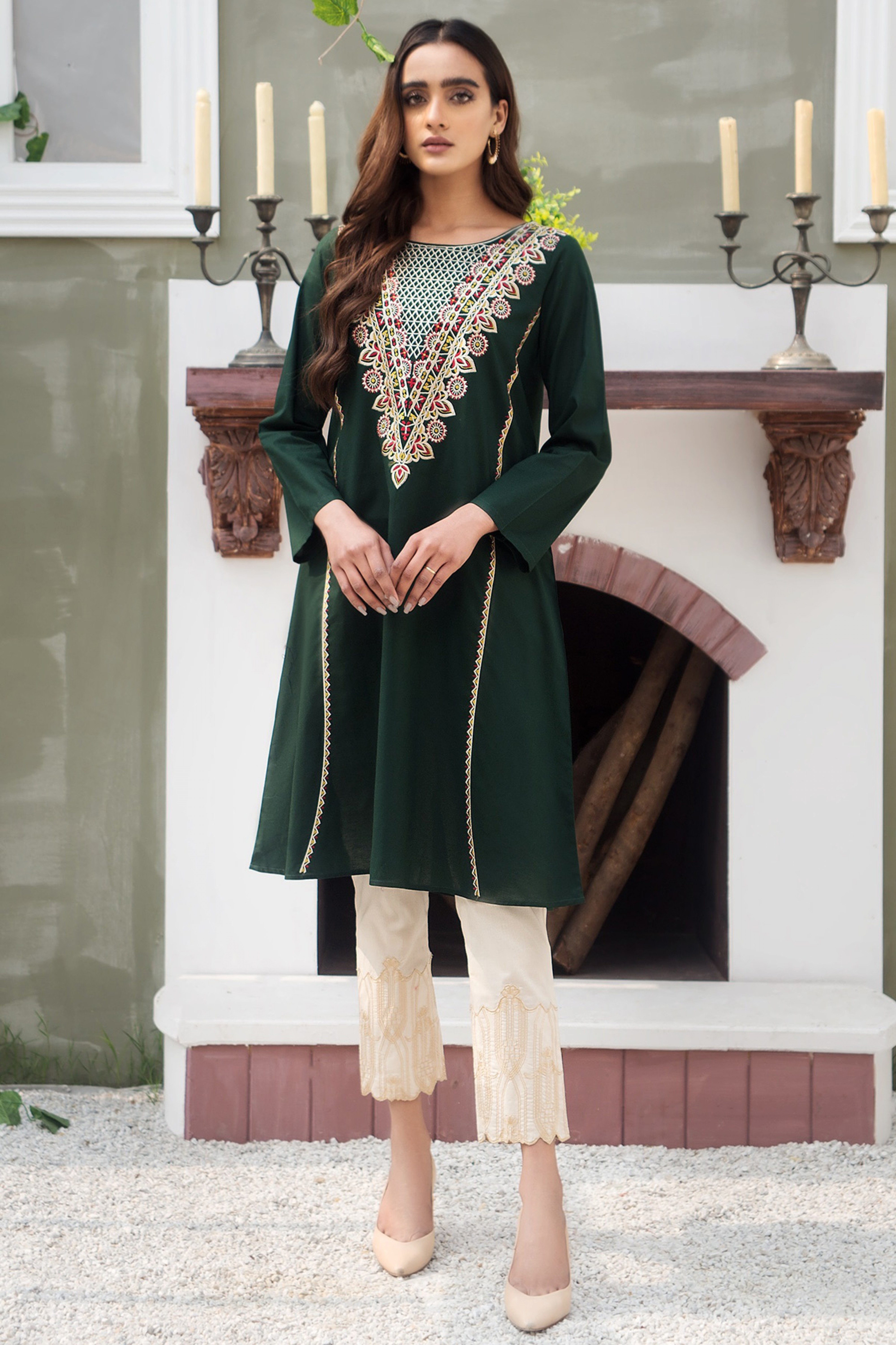 EMERALD(Embroidered Frock)
