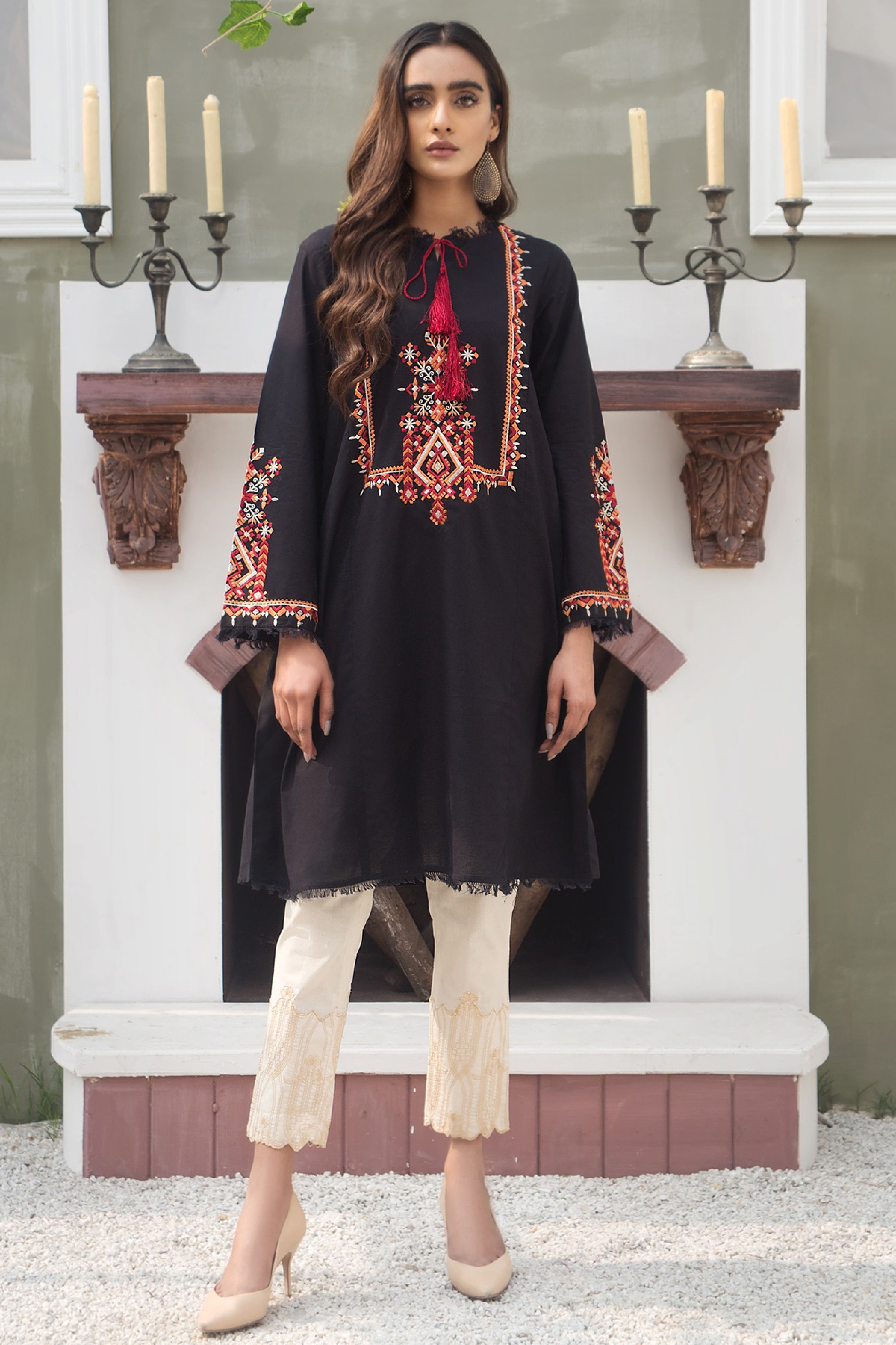 CLAIRE(Embroidered A Line Kurta)