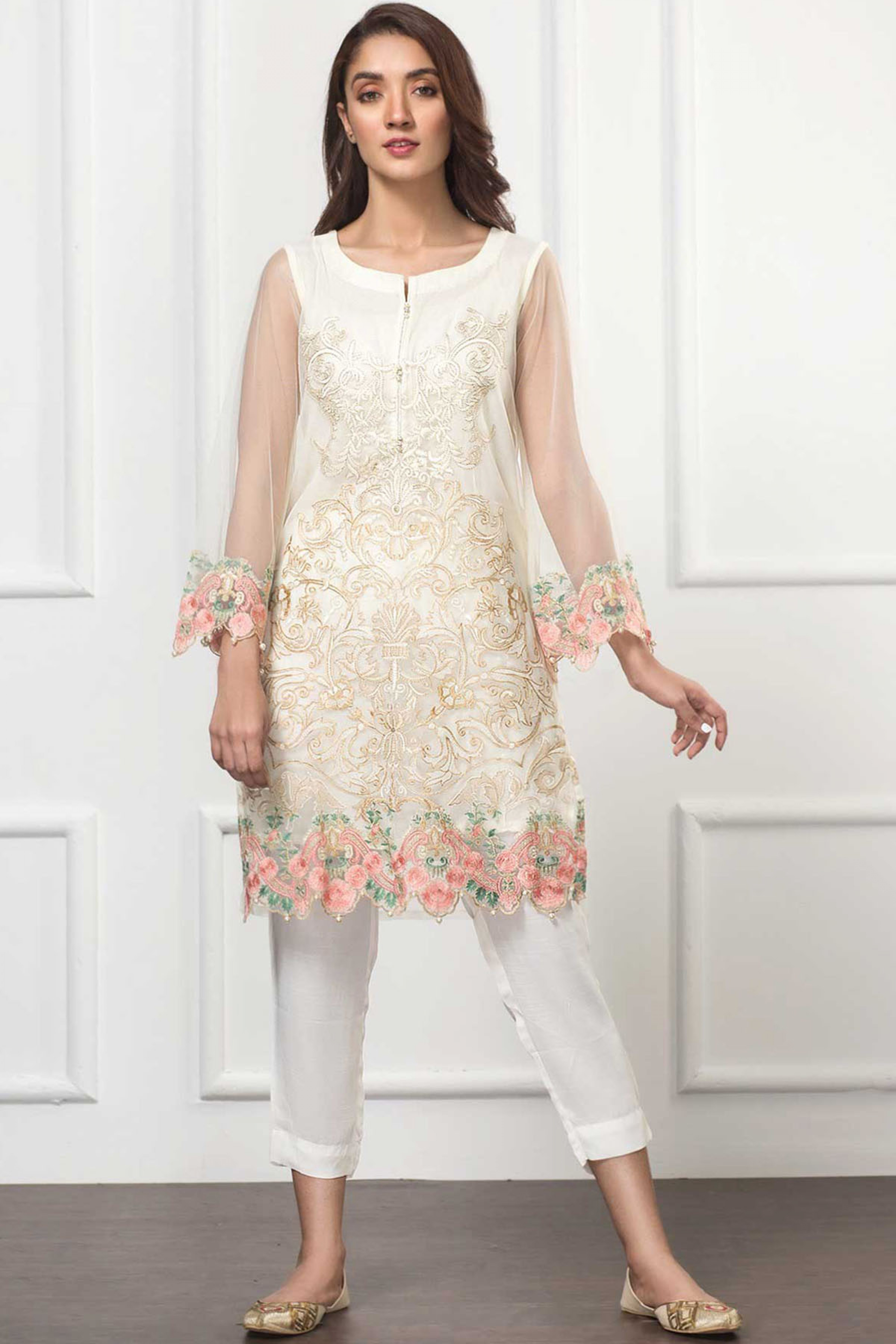 MARJAAN(Embroidered Shirt With Trouser)