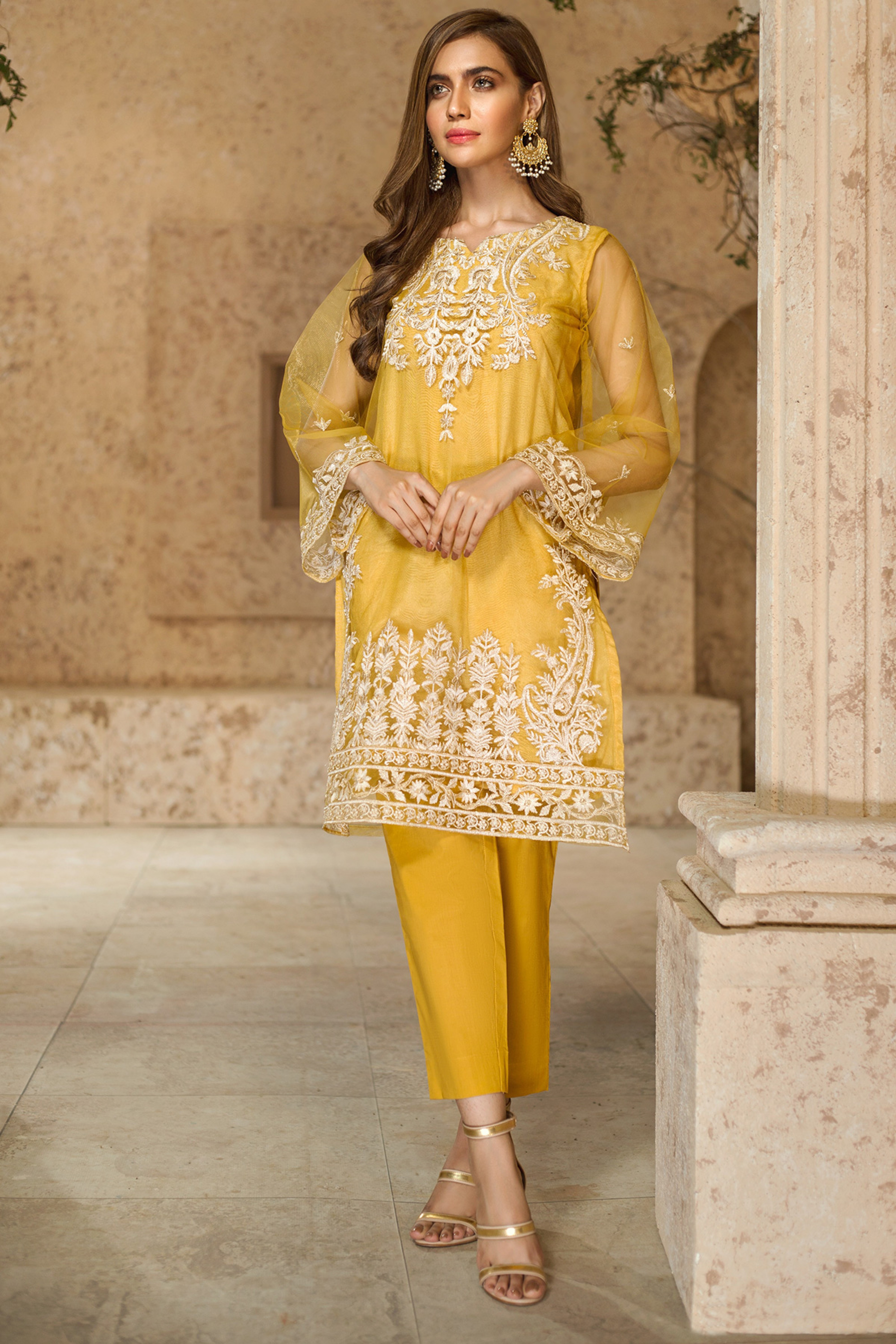 SEHAR(Embroidered Shirt With Trouser)