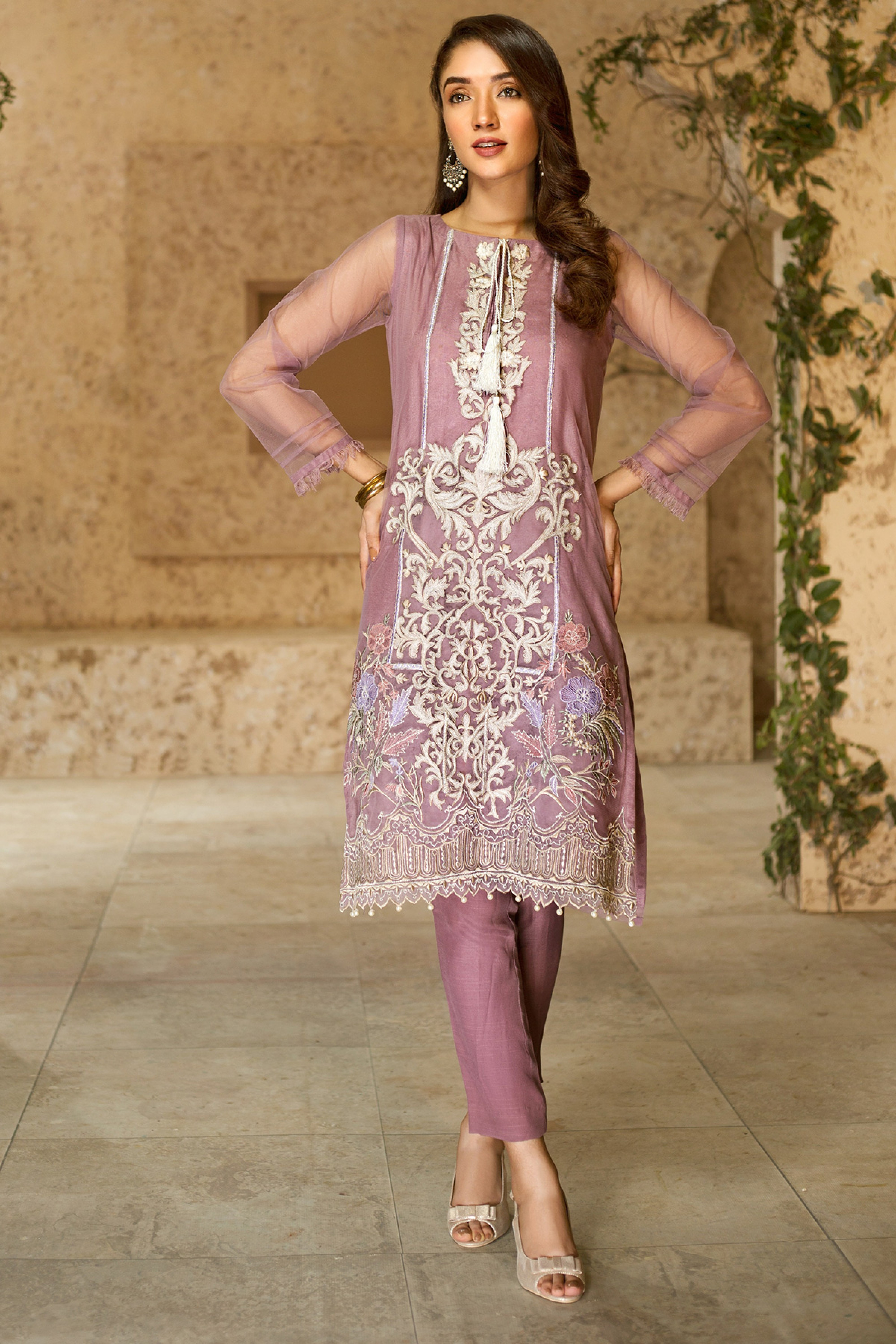 BAHAAR(Embroidered Shirt With Trouser)