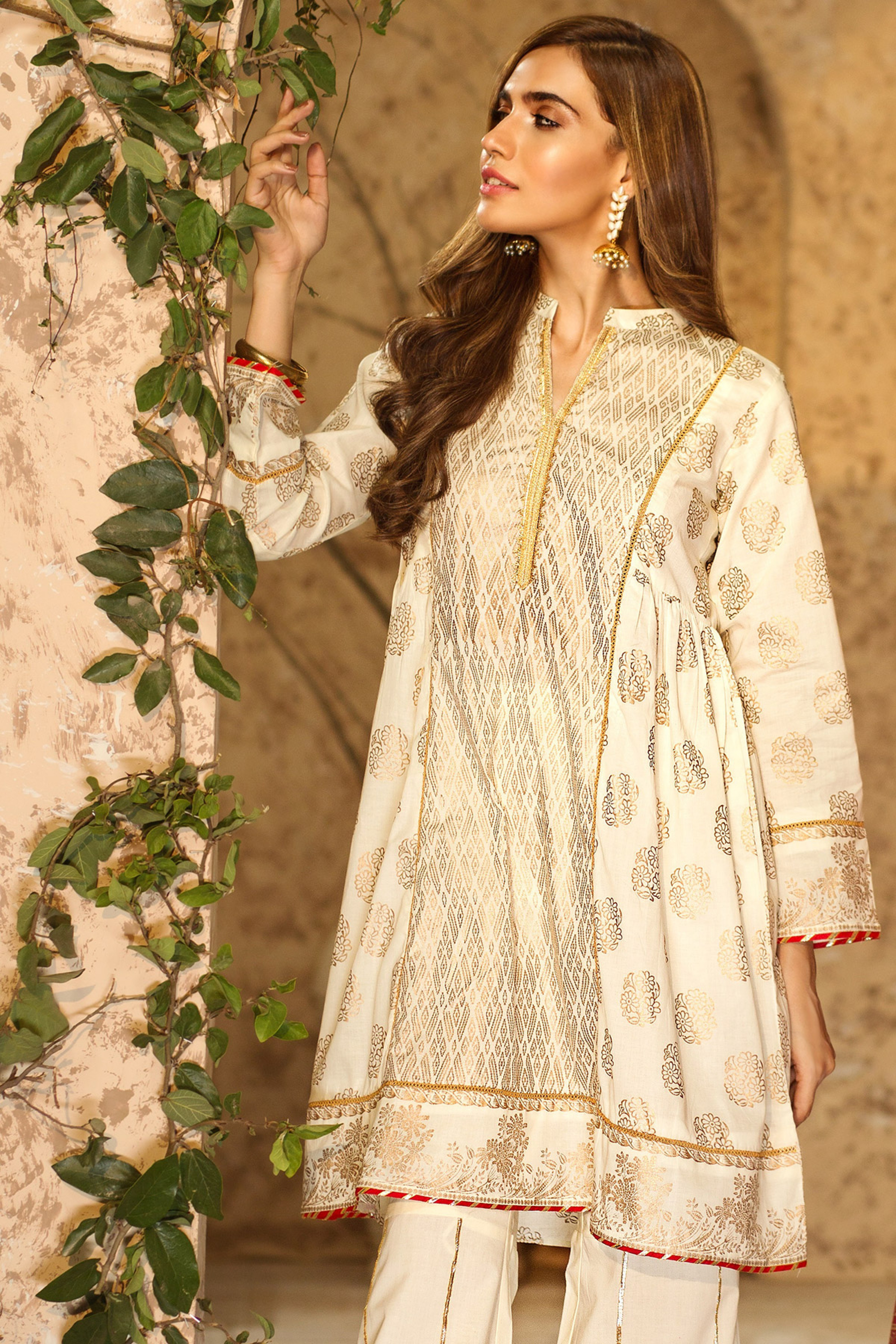 ISHQ(Gold printed Frock )