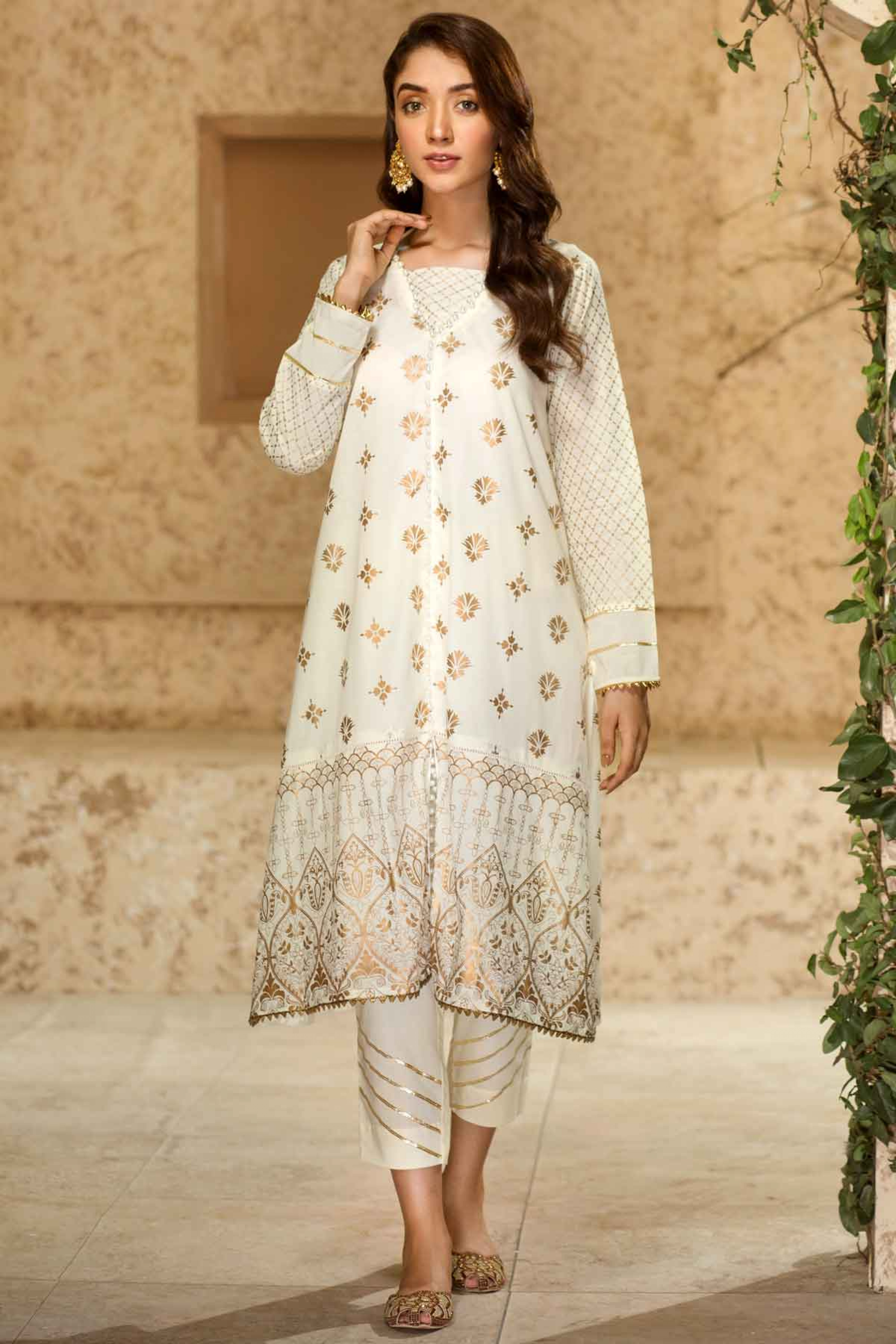 JEHAN(Gold Printed Frock)