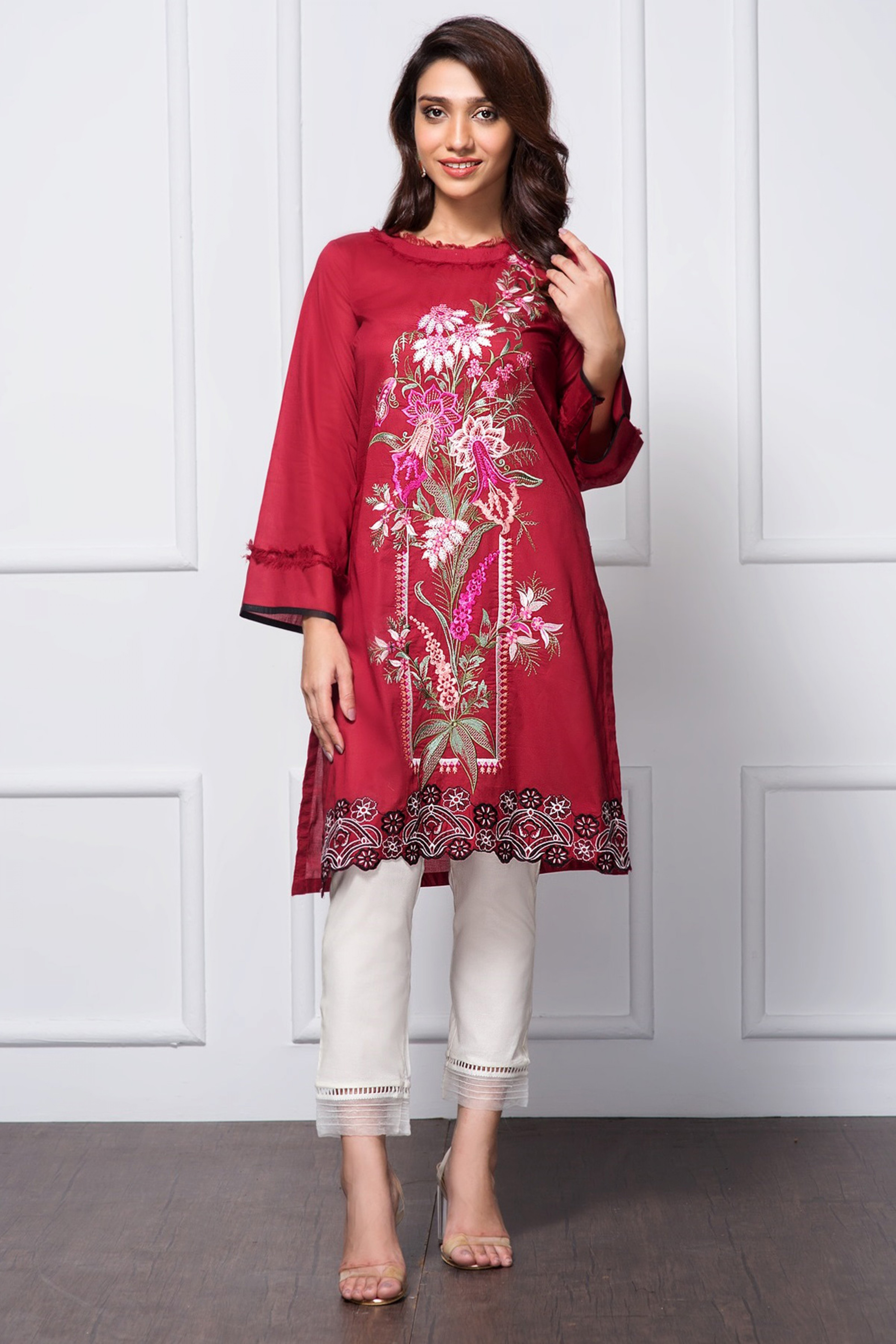 RED CHERRY(Embroidered Shirt)