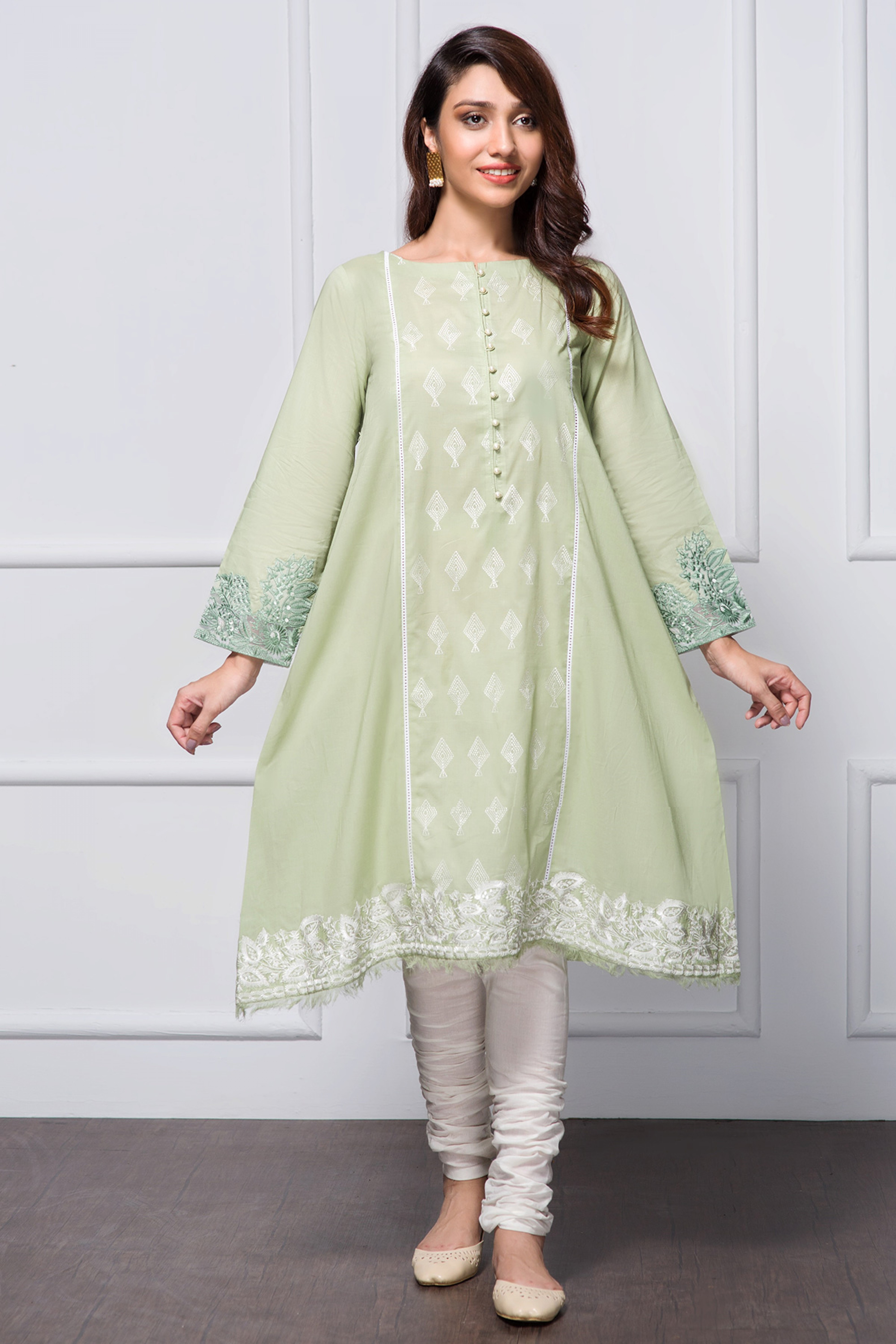 SOFT TRUFFLE(Embroidred Frock)