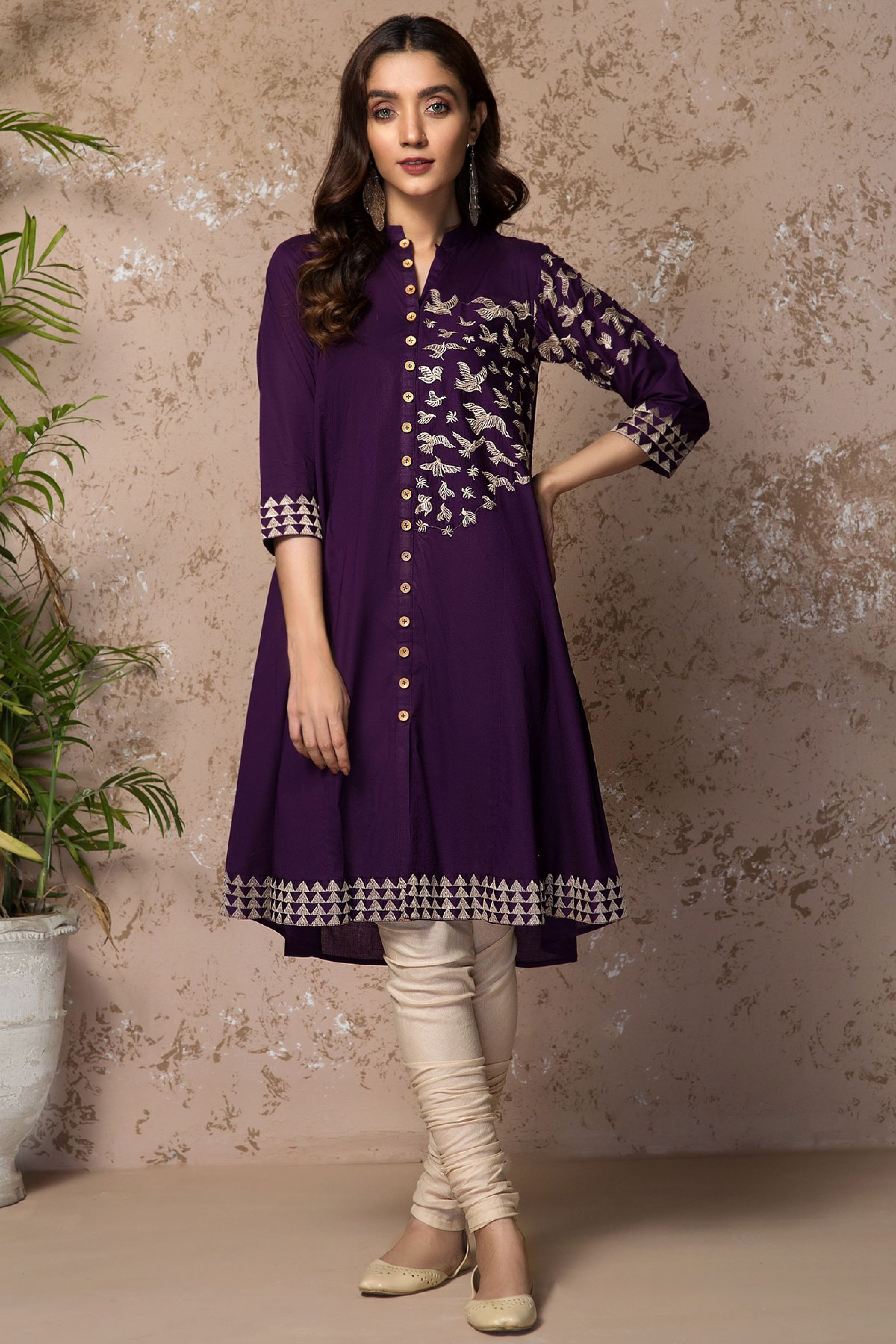 PURPLE BEATS (Embroidered Frock)