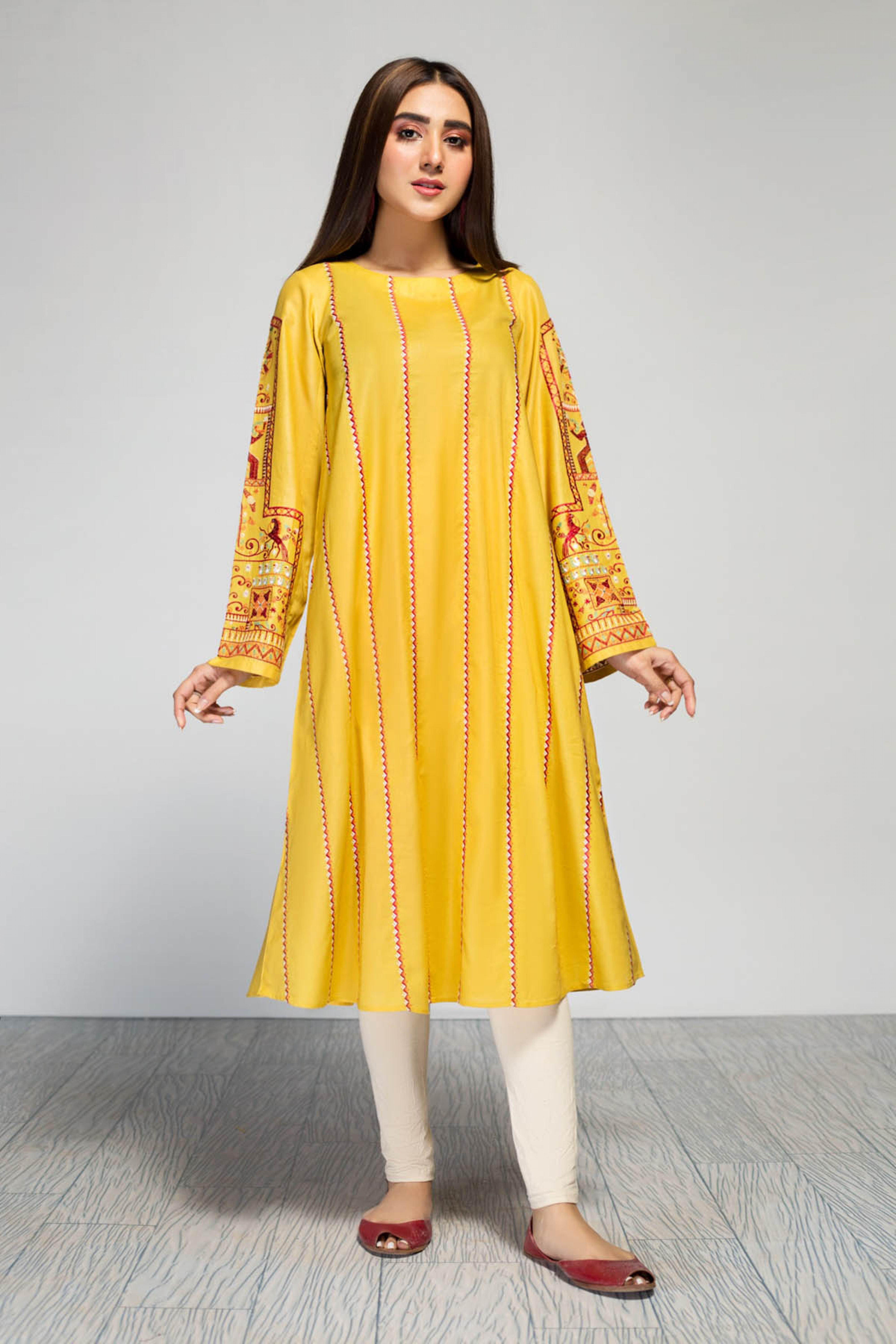 DAFFODIL(Embroidred Frock)
