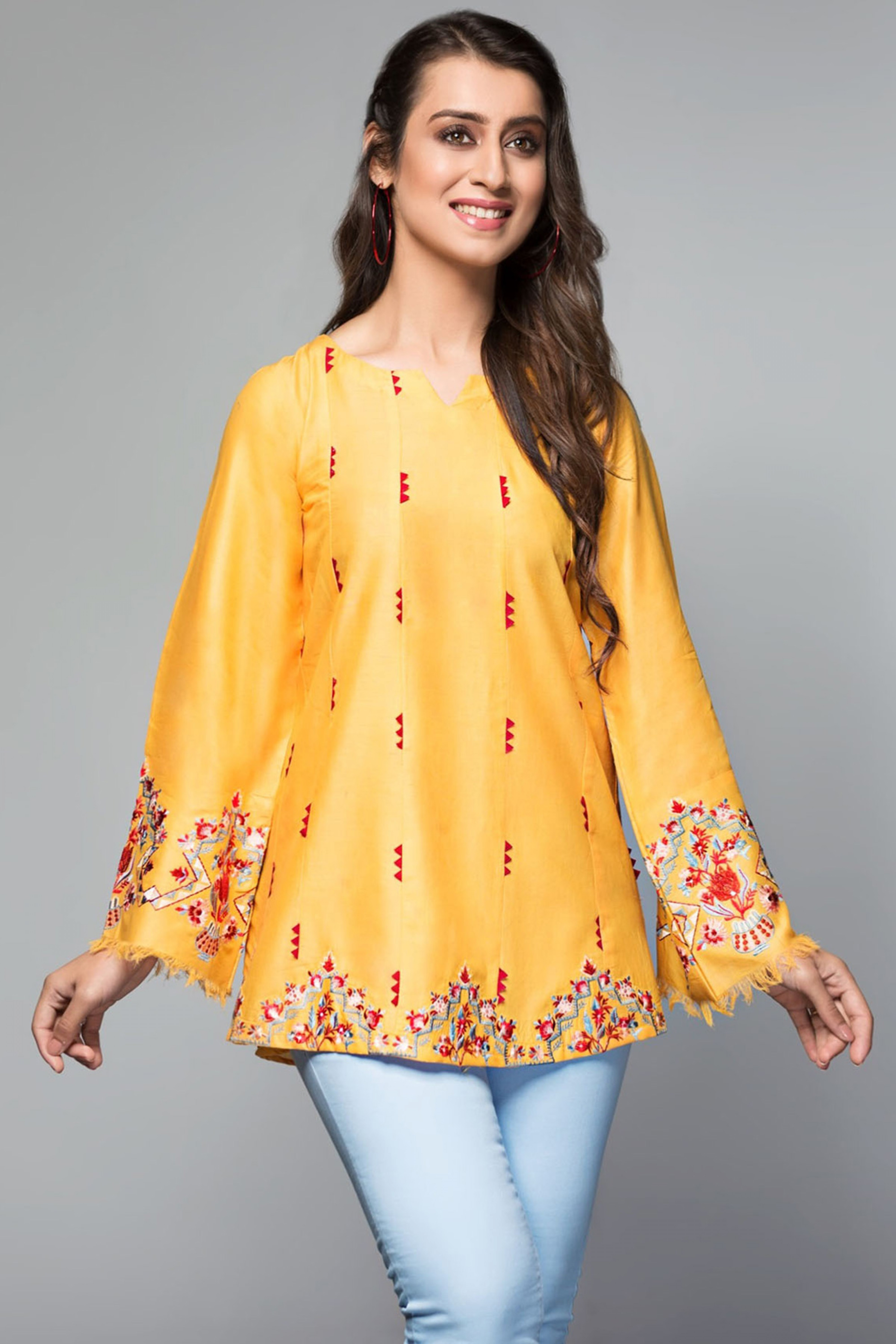 CITRINE(Embroidered Top)