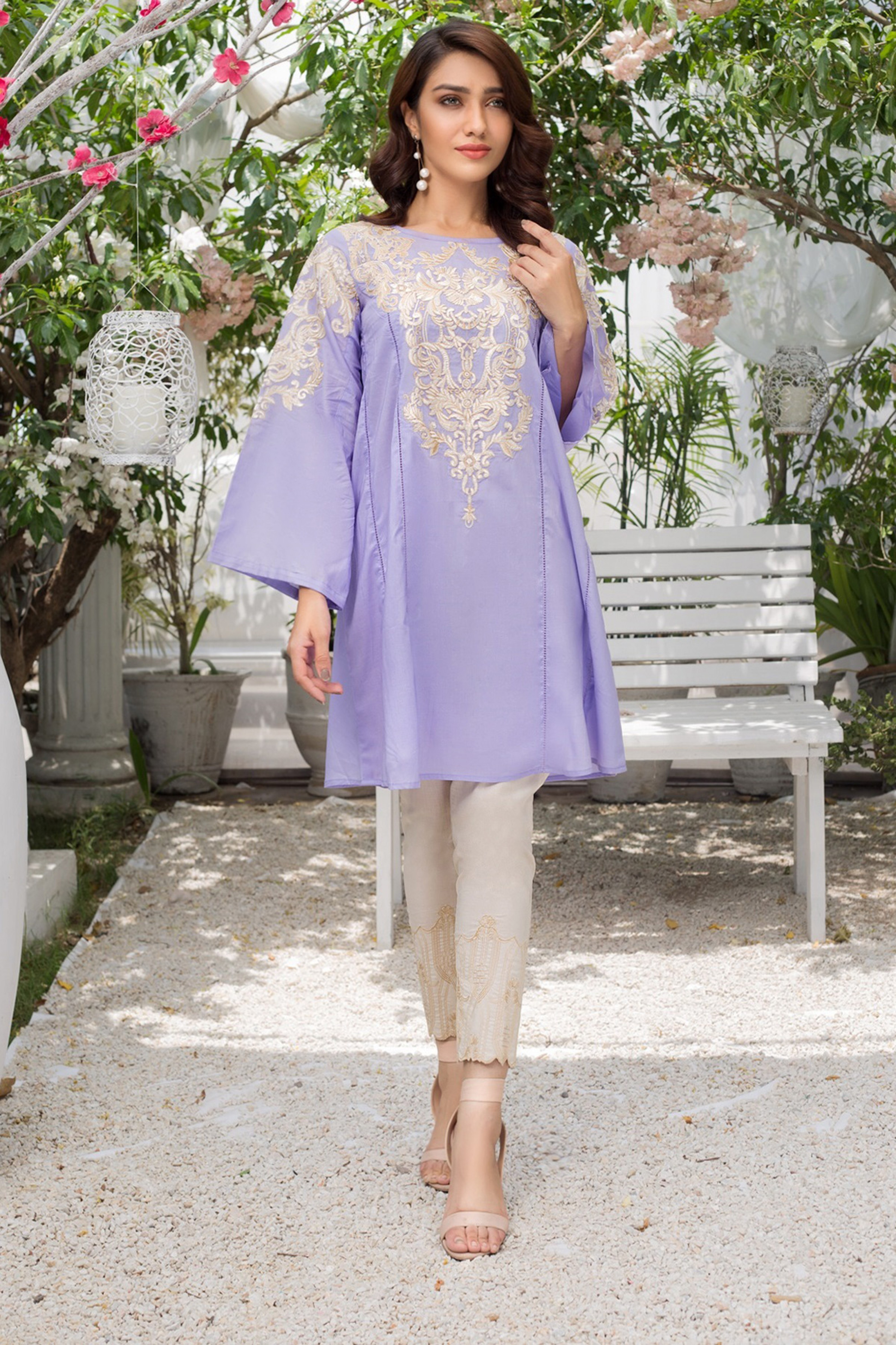 URBAN PLUM(Embroidered A Line Kurta)