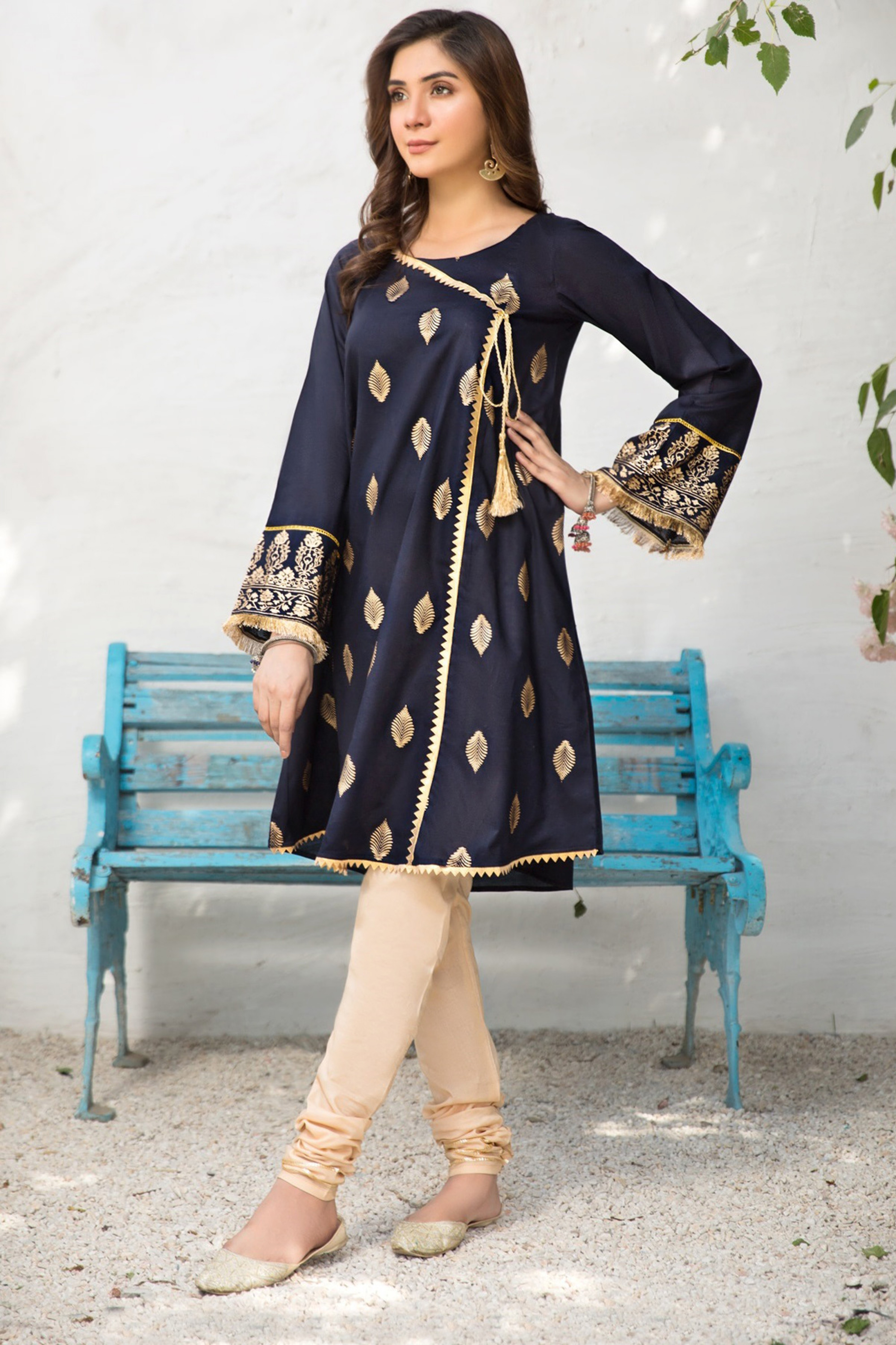 GUL AFROZ(Gold Printed Frock)